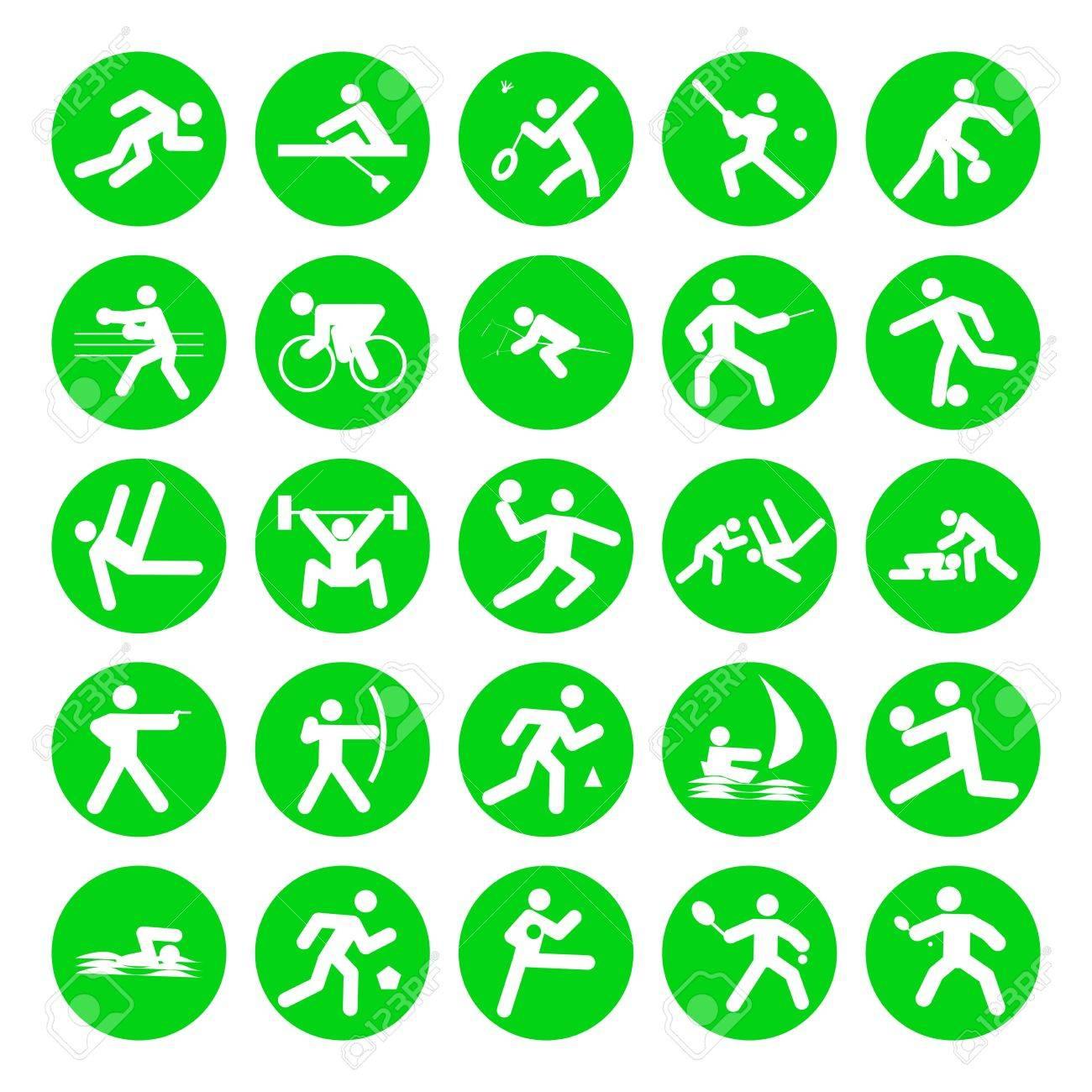Logos De Deportes Juegos Olimpicos Sobre Fondo Blanco Fotos