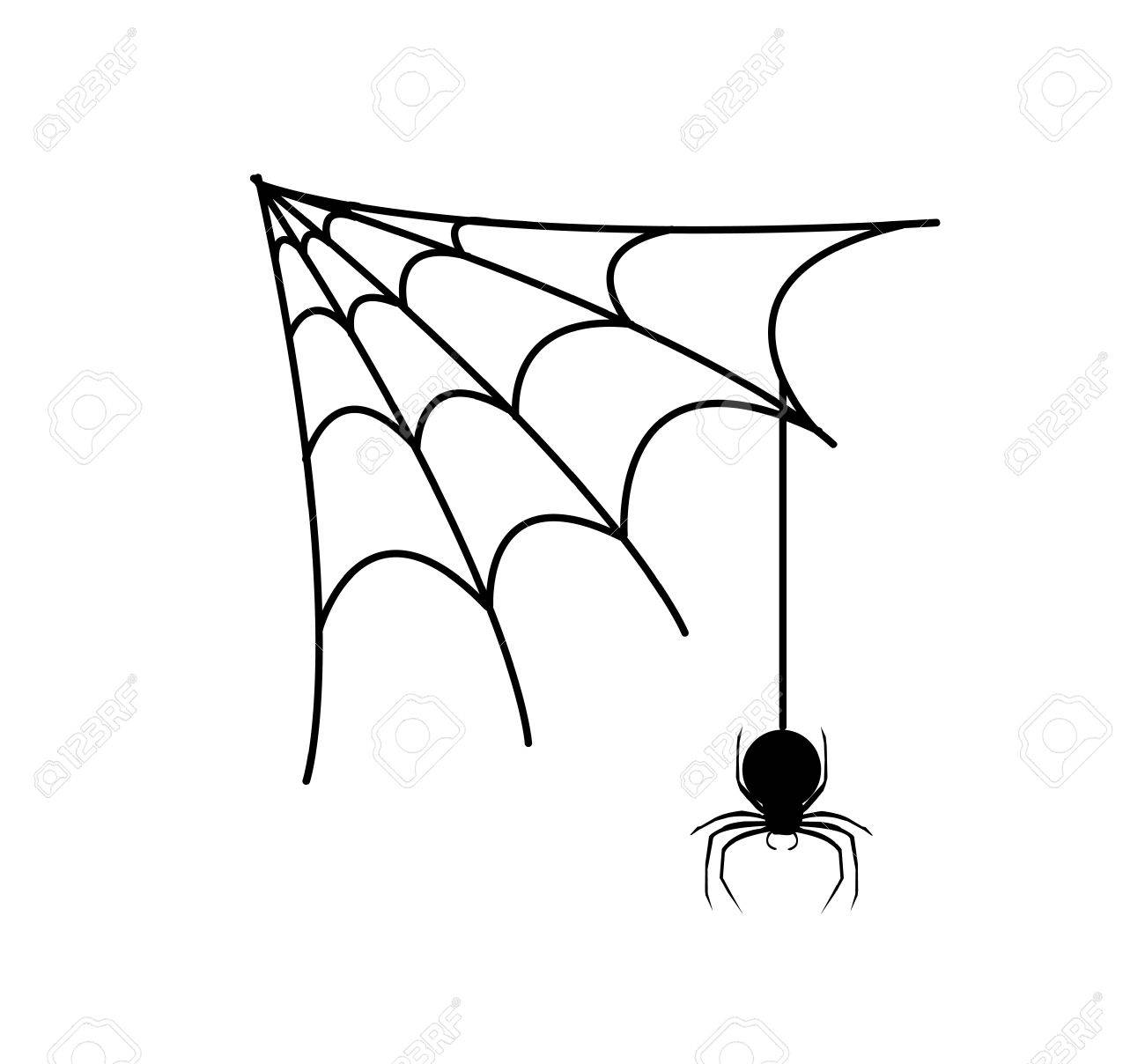 Web Spider Vector Vector Spider's Web Ans