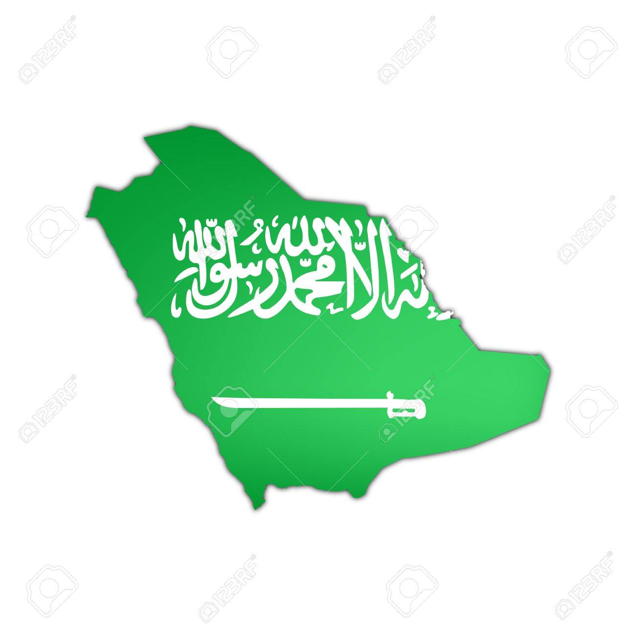 Saudi Arabia Map Flag Map And Flag of Saudi Arabia