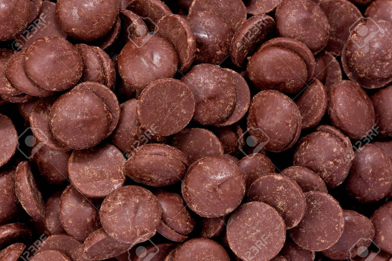Background Texture Of Semi-sweet Chocolate Chips. Stock Photo ...