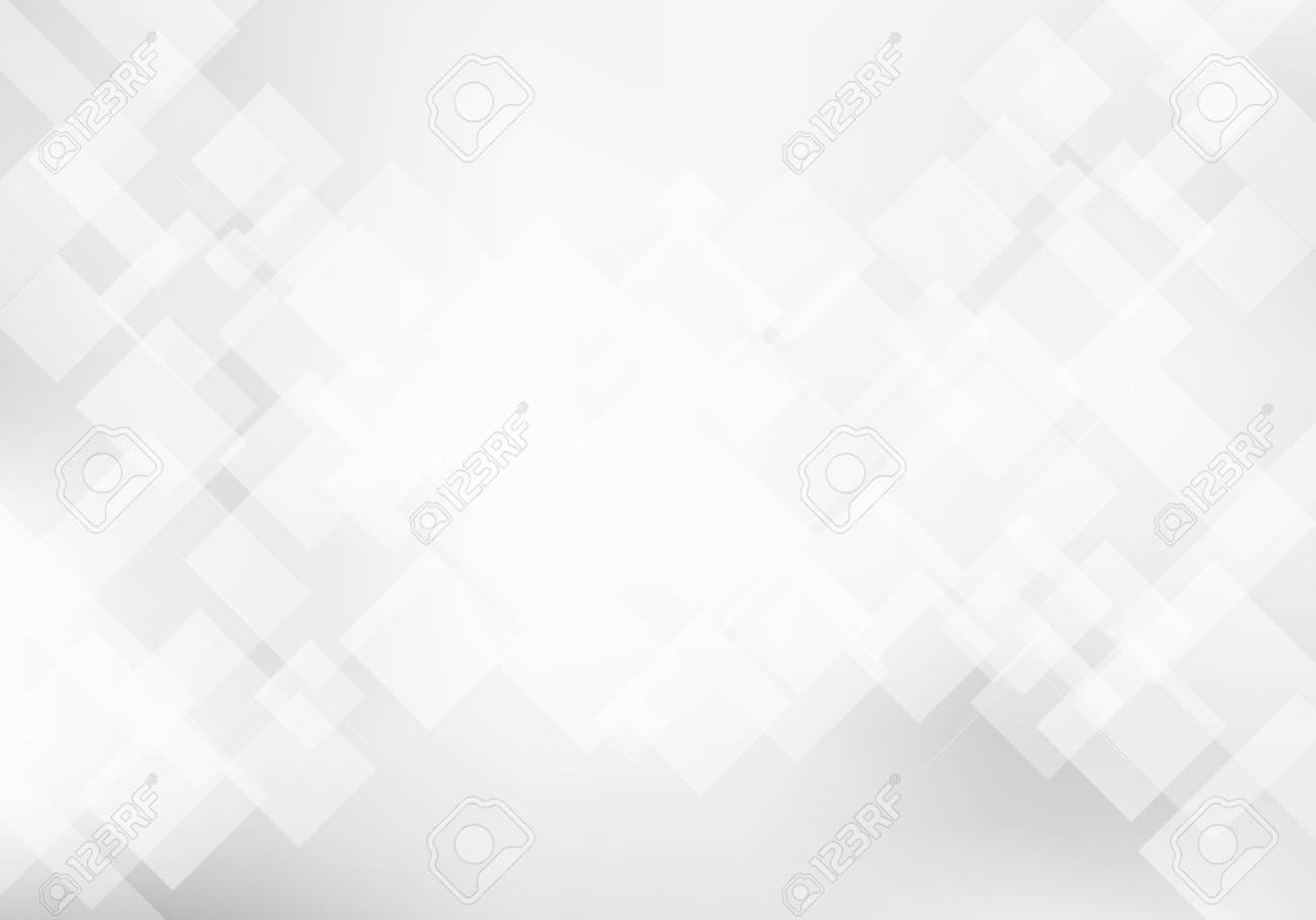 Abstract elegant white and gray geometric background technology concept. Squares pattern texture. Vector illustration - 125353567