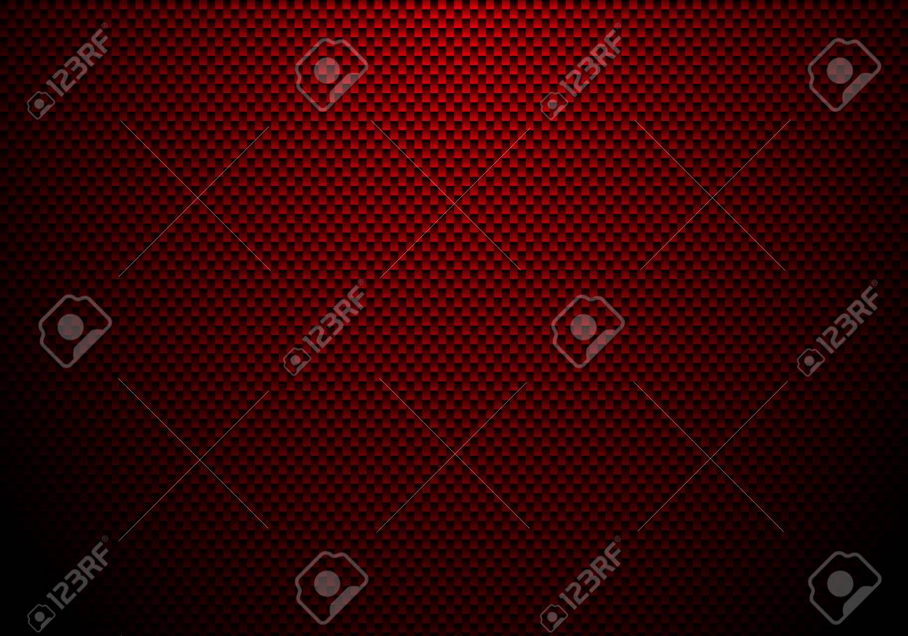 Red carbon fiber background and texture with lighting. Material wallpaper for car tuning or service. Vector illustration - 120495959