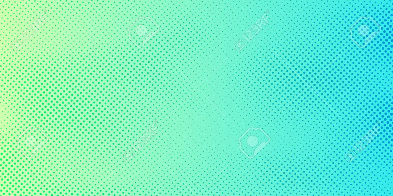 Abstract bright green and blue gradient color background with halftone pattern texture. Creative cover design template. Vector illustration - 120496158