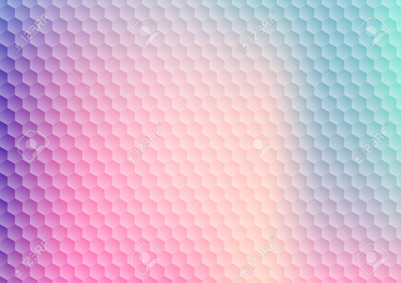 Abstract gradient vibrant color hexagon pattern background and texture. Modern colorful geometric honeycomb. Vector illustration - 135637334