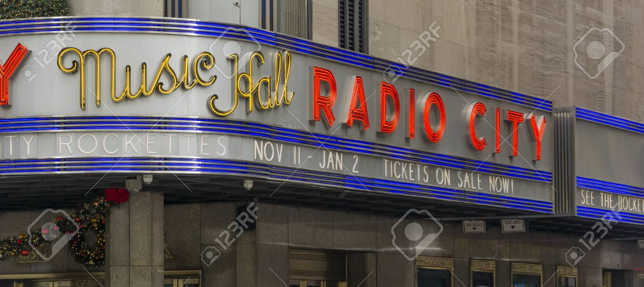 New York, USA, November 2016: Radio City Music Hall Ist Die Heimat ...
