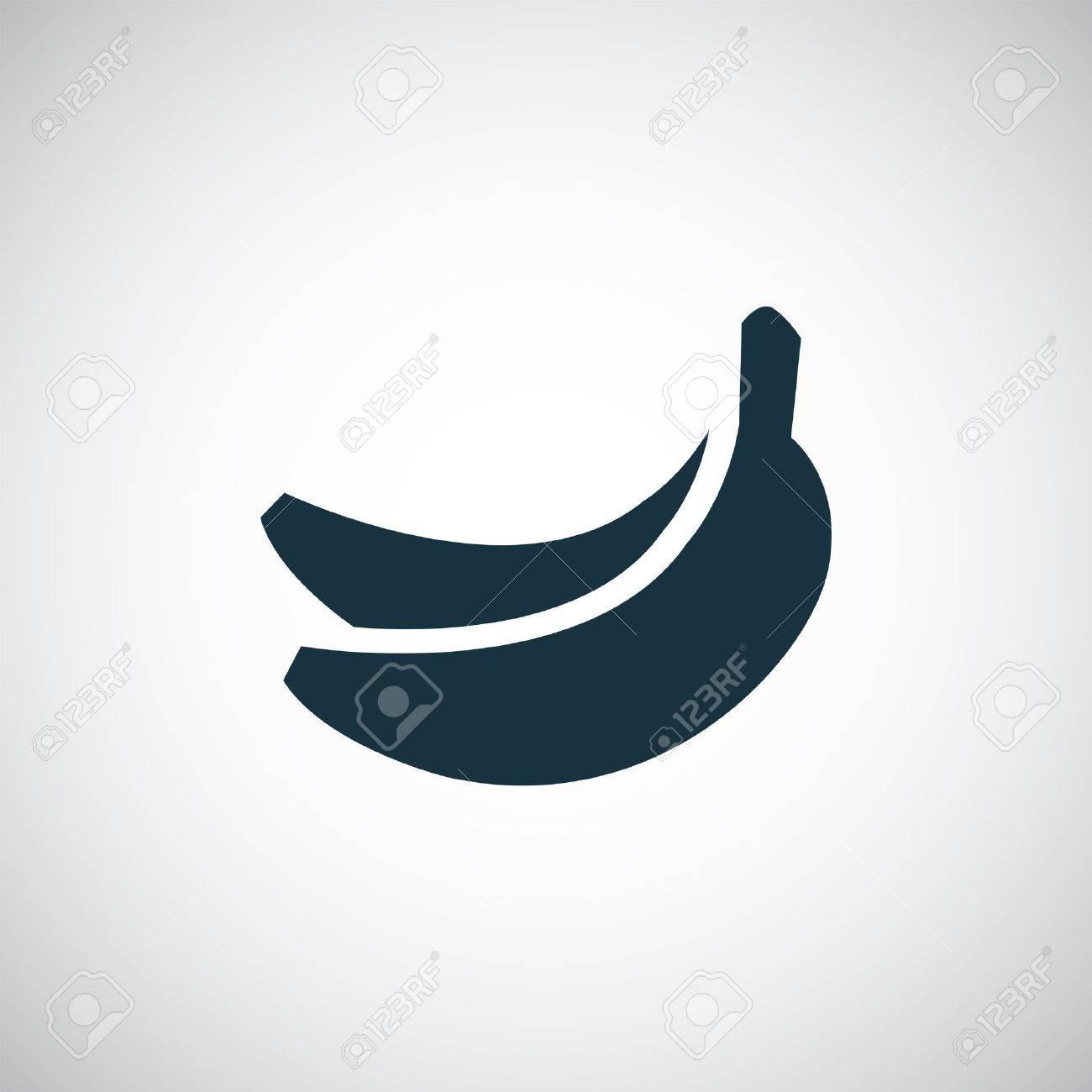 Banana icon isolated black on the white background vector banana icon isolated black on the white background vector stock vector 40104250 biocorpaavc