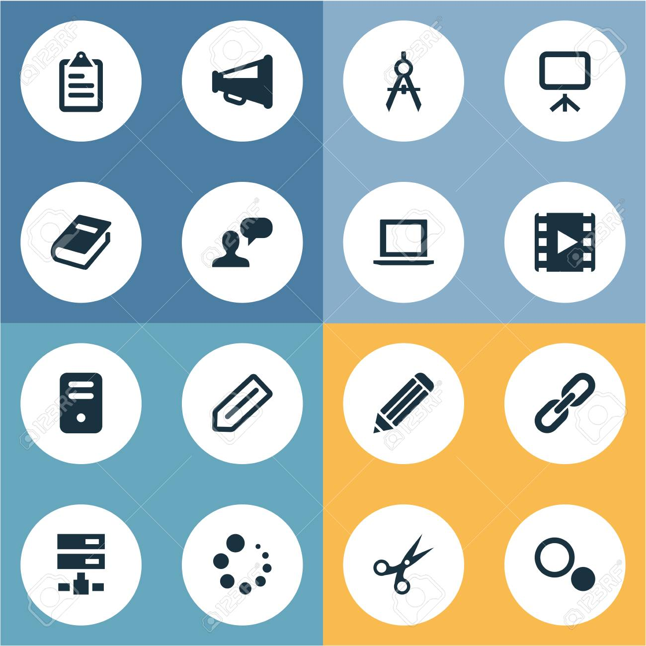 Vector illustration set of simple web icons elements system vector vector illustration set of simple web icons elements system unit chain tag and other synonyms blueprint layout and options malvernweather Images