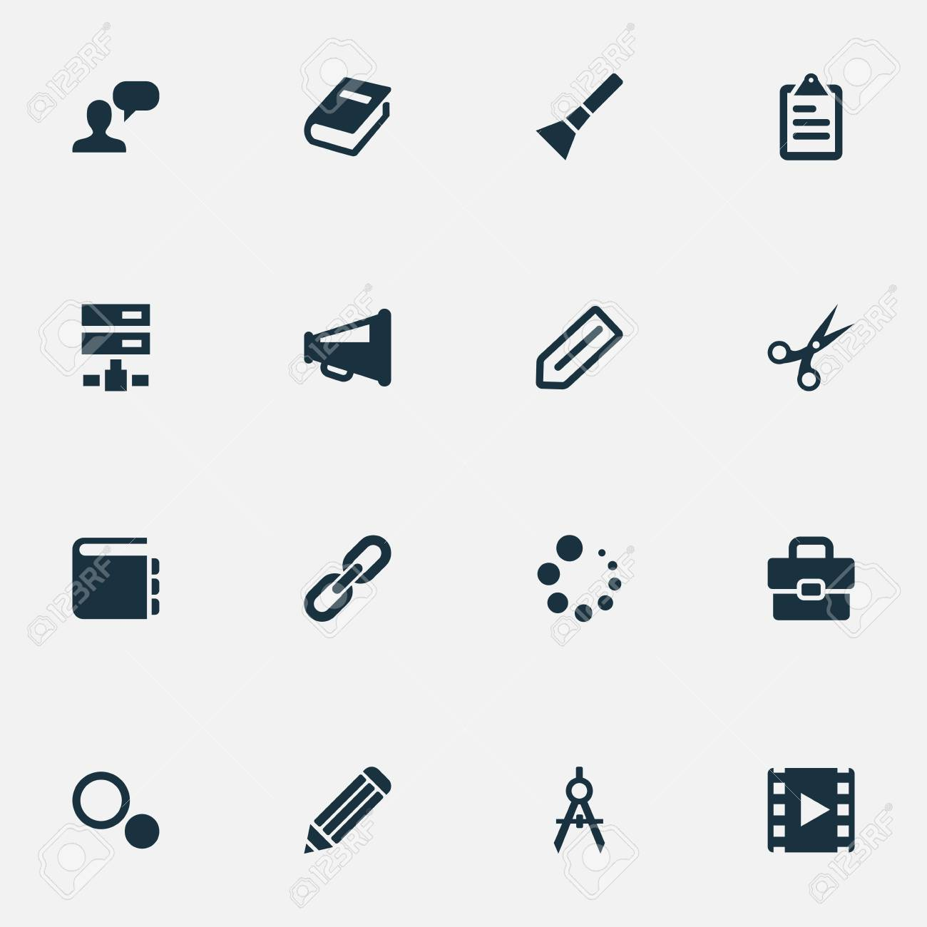 Vector illustration set of simple design icons elements hand vector vector illustration set of simple design icons elements hand lantern loading blueprint synonyms choice tools and settings malvernweather Images