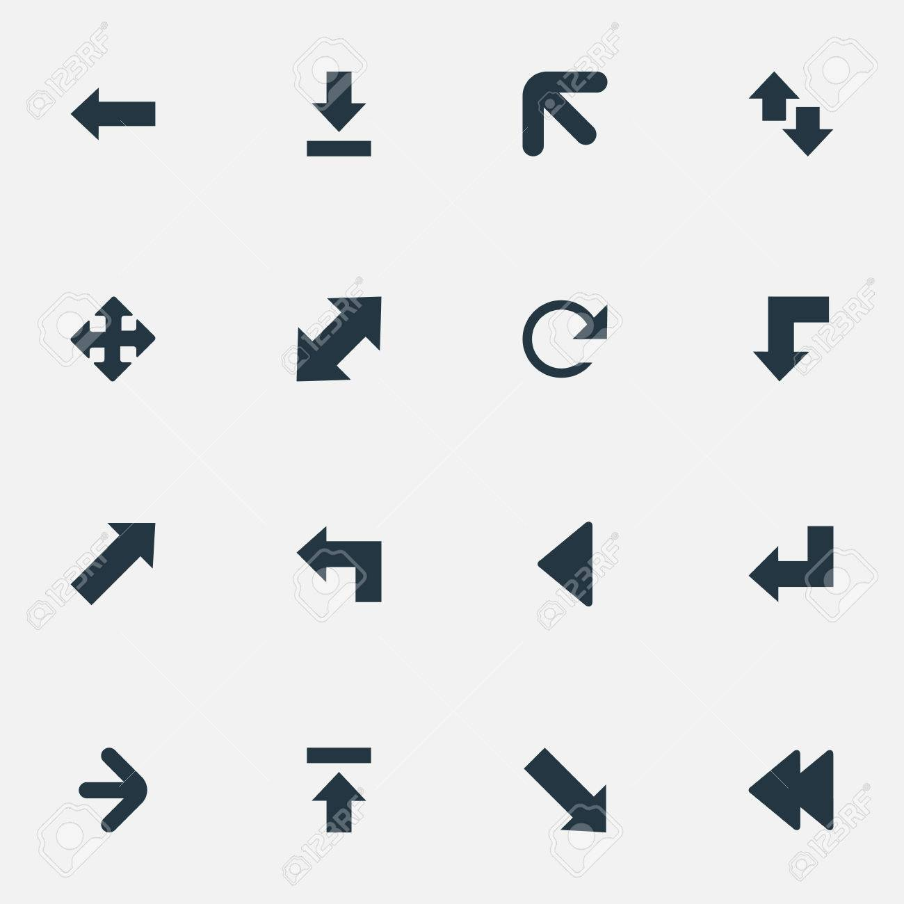 Vector Illustration Set Of Simple Cursor Icons  Elements Indicator,