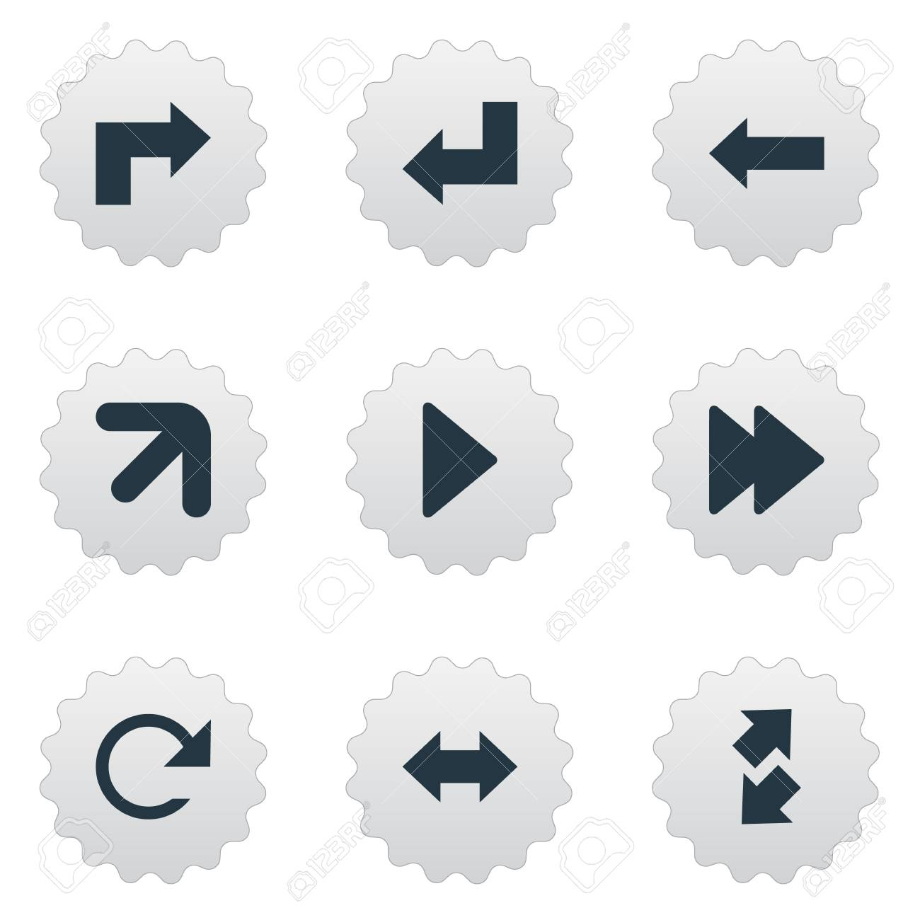 A Vector Illustration Set Of Simple Indicator Icons  Elements