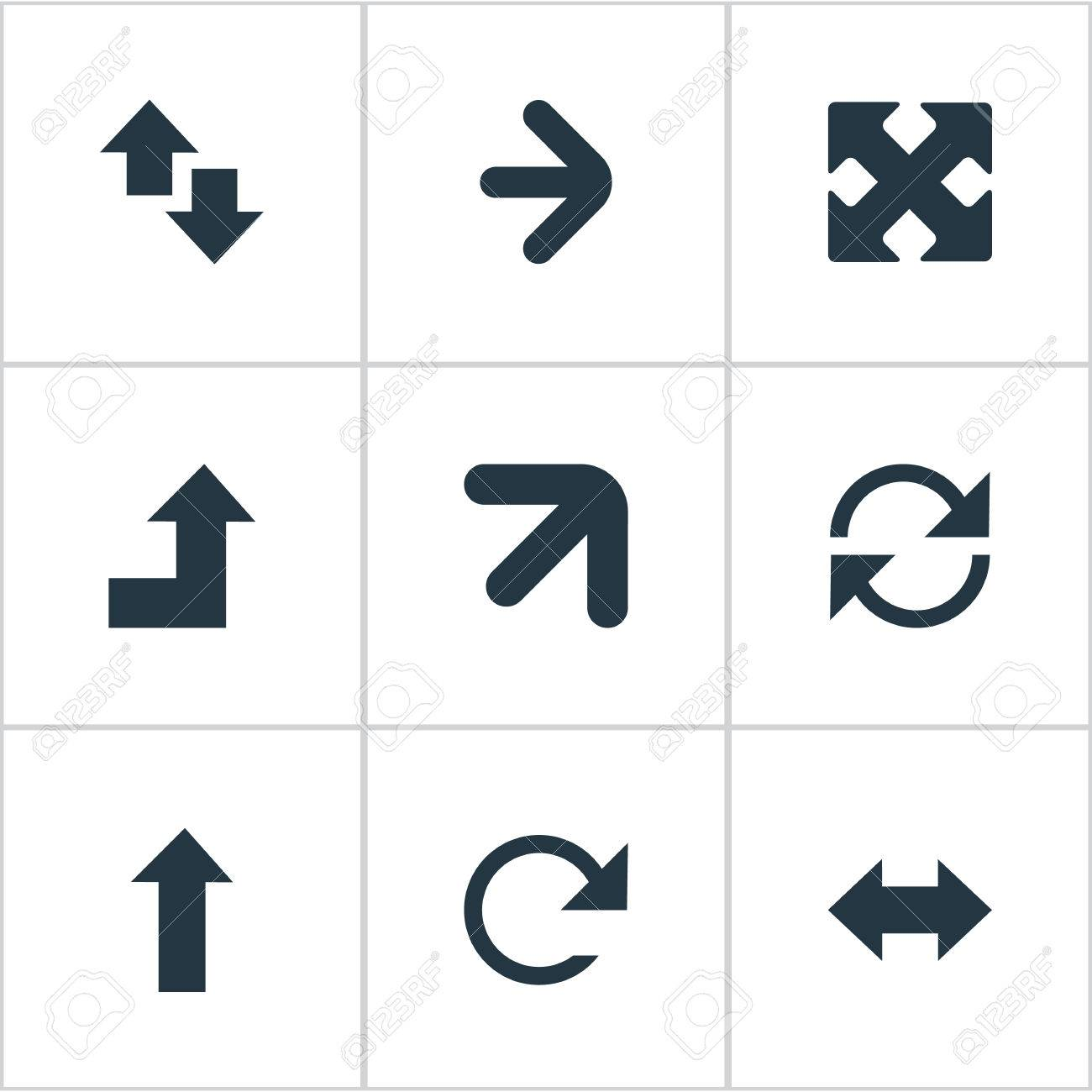 Vector Illustration Set Of Simple Indicator Icons  Elements Reverse,