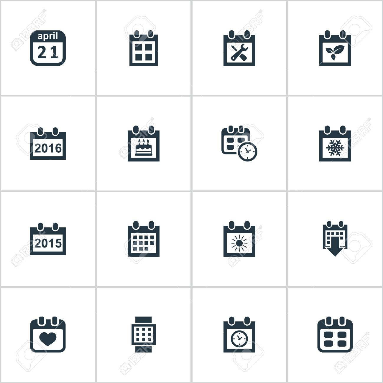 Vector Illustration Set Of Simple Plan Icons Elements Heart