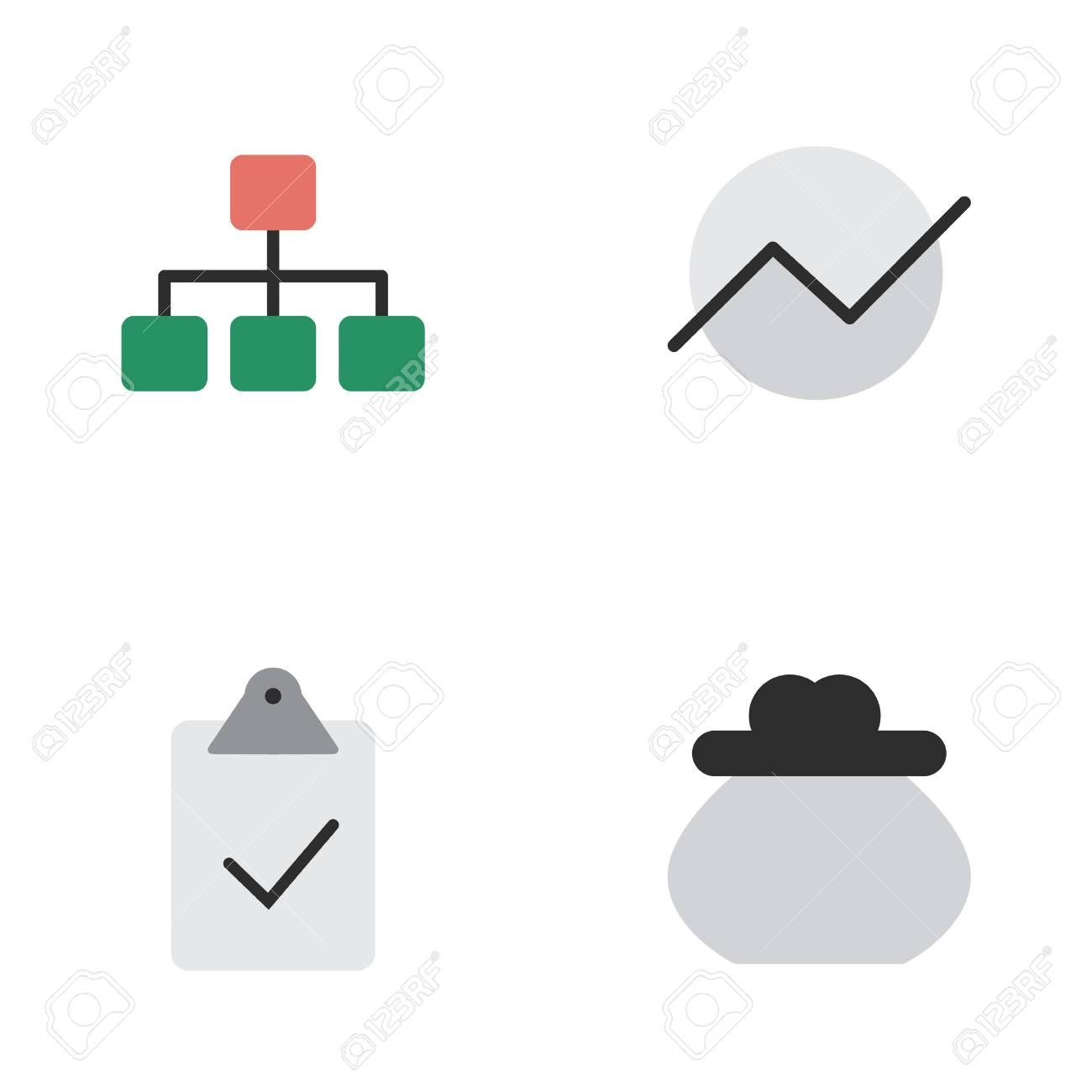 Vector illustration set of simple job icons elements wallet vector vector illustration set of simple job icons elements wallet diagram done and other synonyms construction money and mark ccuart Gallery