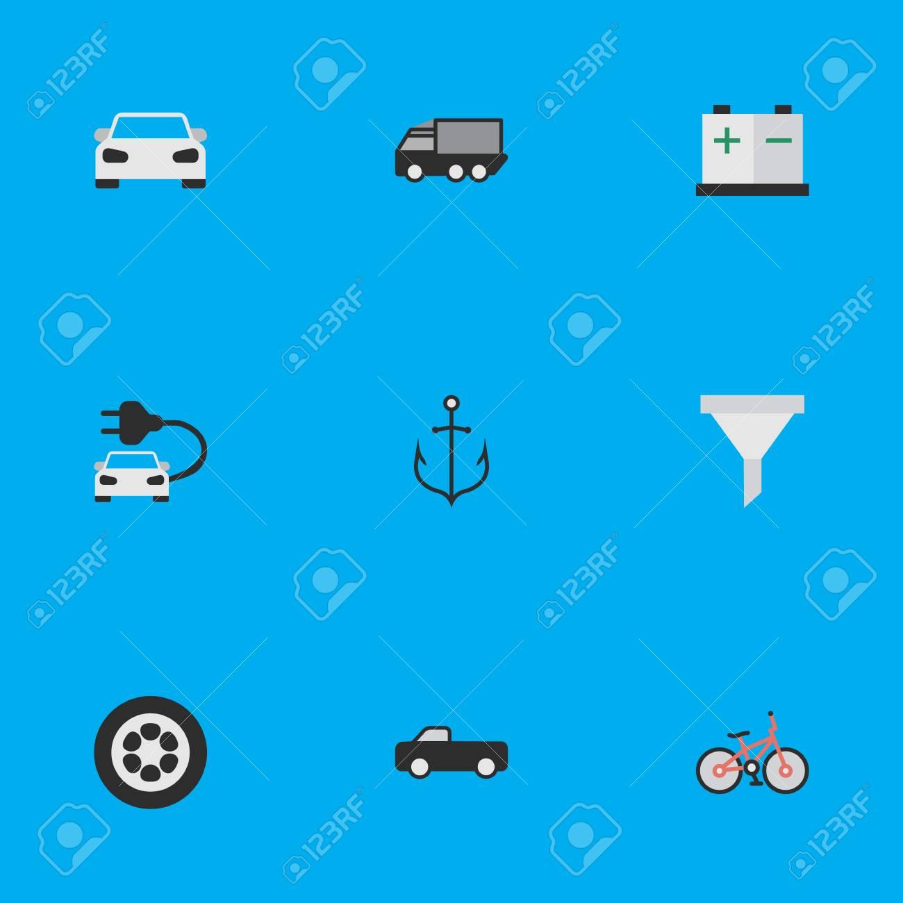Vector Illustration Set Of Simple Transportation Icons  Elements