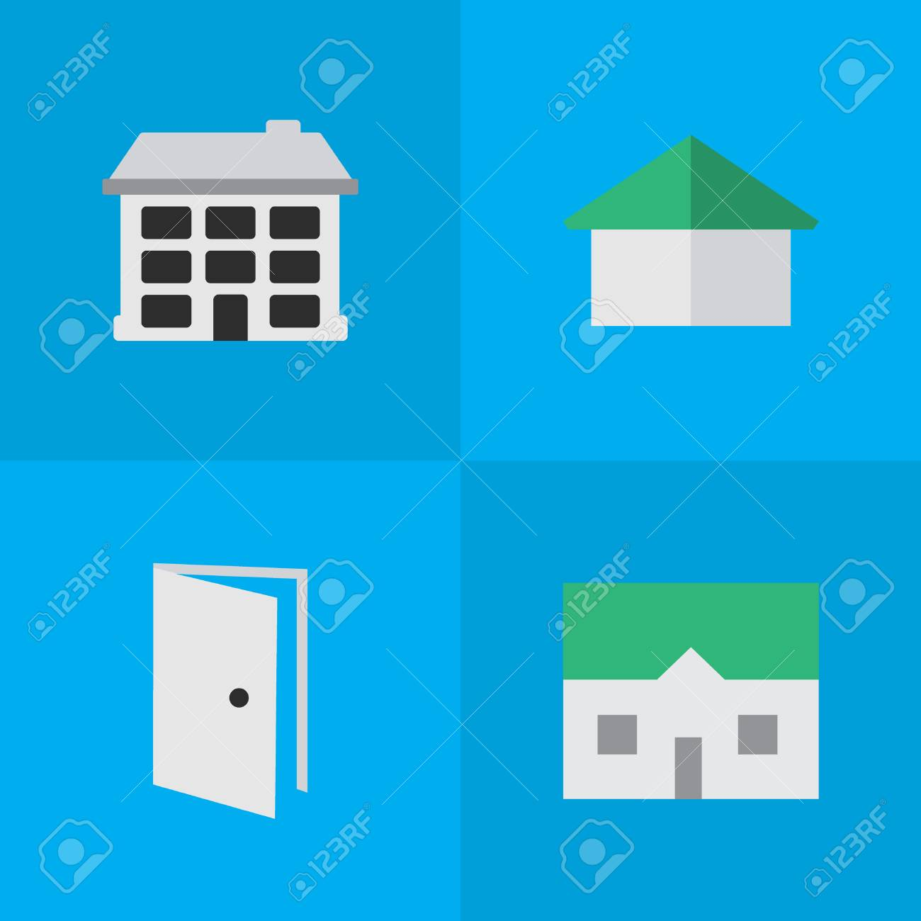 Elements House Entry Architecture And Other Synonyms Open Door And Entry. Vector  sc 1 st  123RF Stock Photo & Elements House Entry Architecture And Other Synonyms Open ...