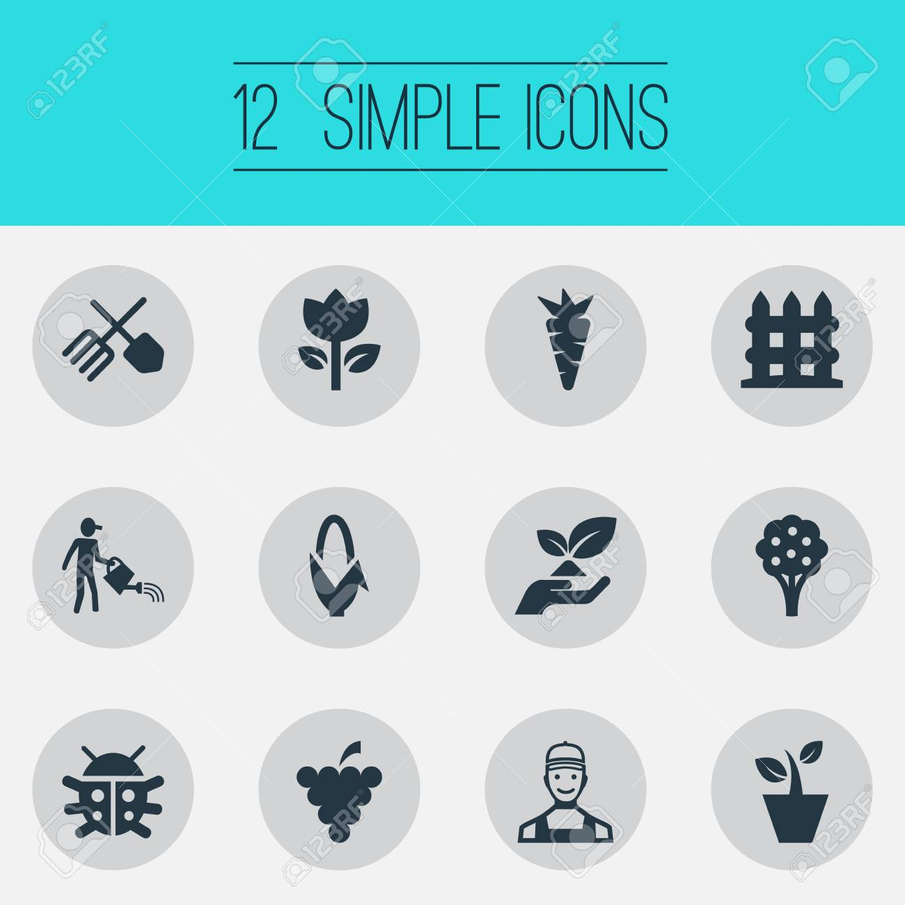 //encrypted-tbn0.gstatic.com/images?q\u003dtbnANd9GcSIa-15HarH2EtlkwqSW1acu2HRbZpdm5o55oRd3h7balkUBY9p & Vector Illustration Set Of Simple Garden Icons. Elements Worker..