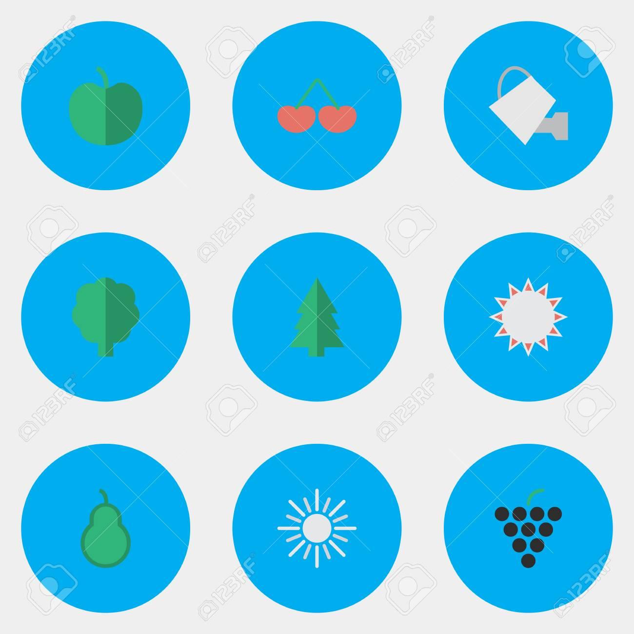 簡単な園芸アイコンのベクター イラスト セットパンチング バッグ