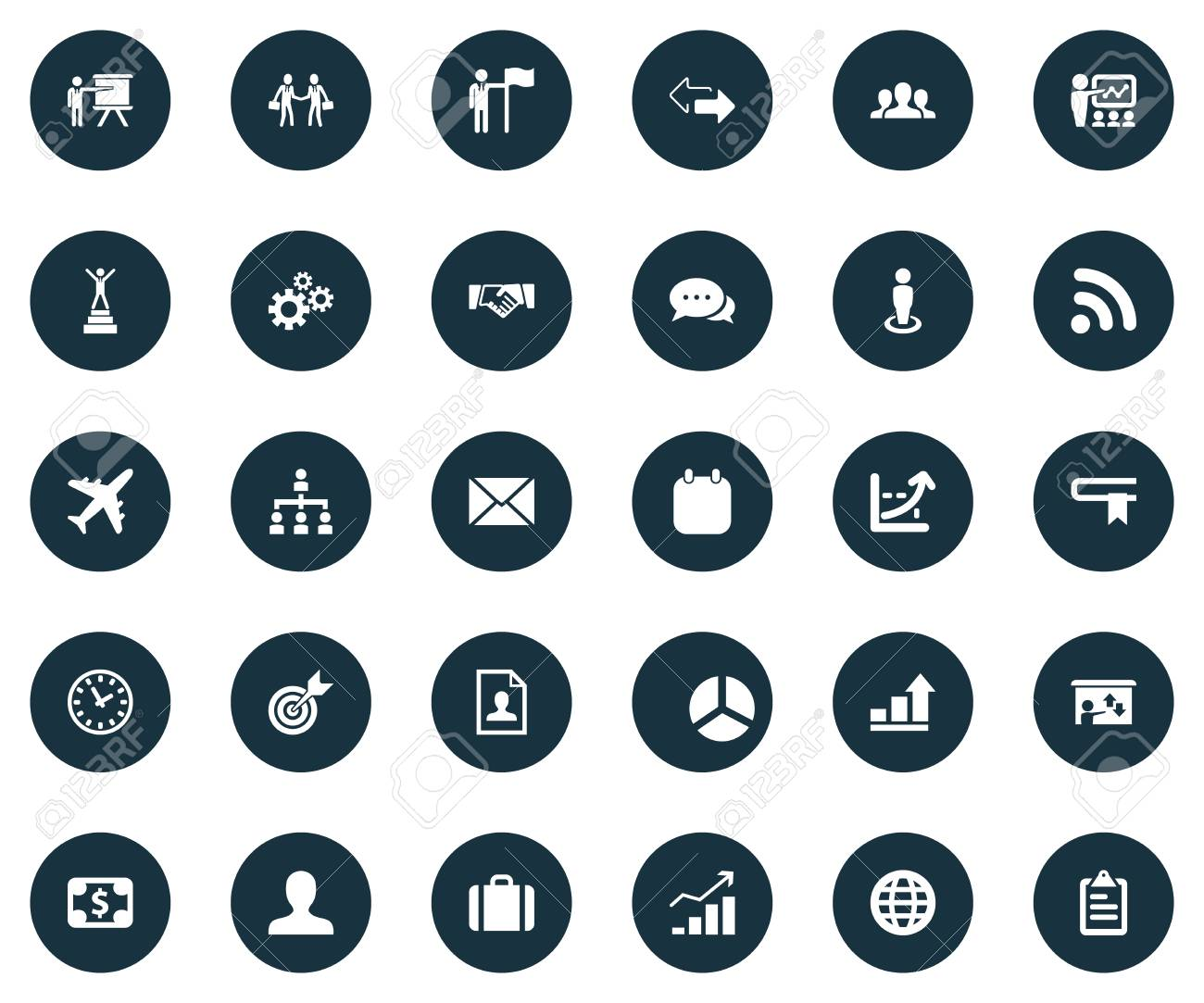 Icons For Resume.Vector Illustration Set Of Simple Business Icons Elements Resume