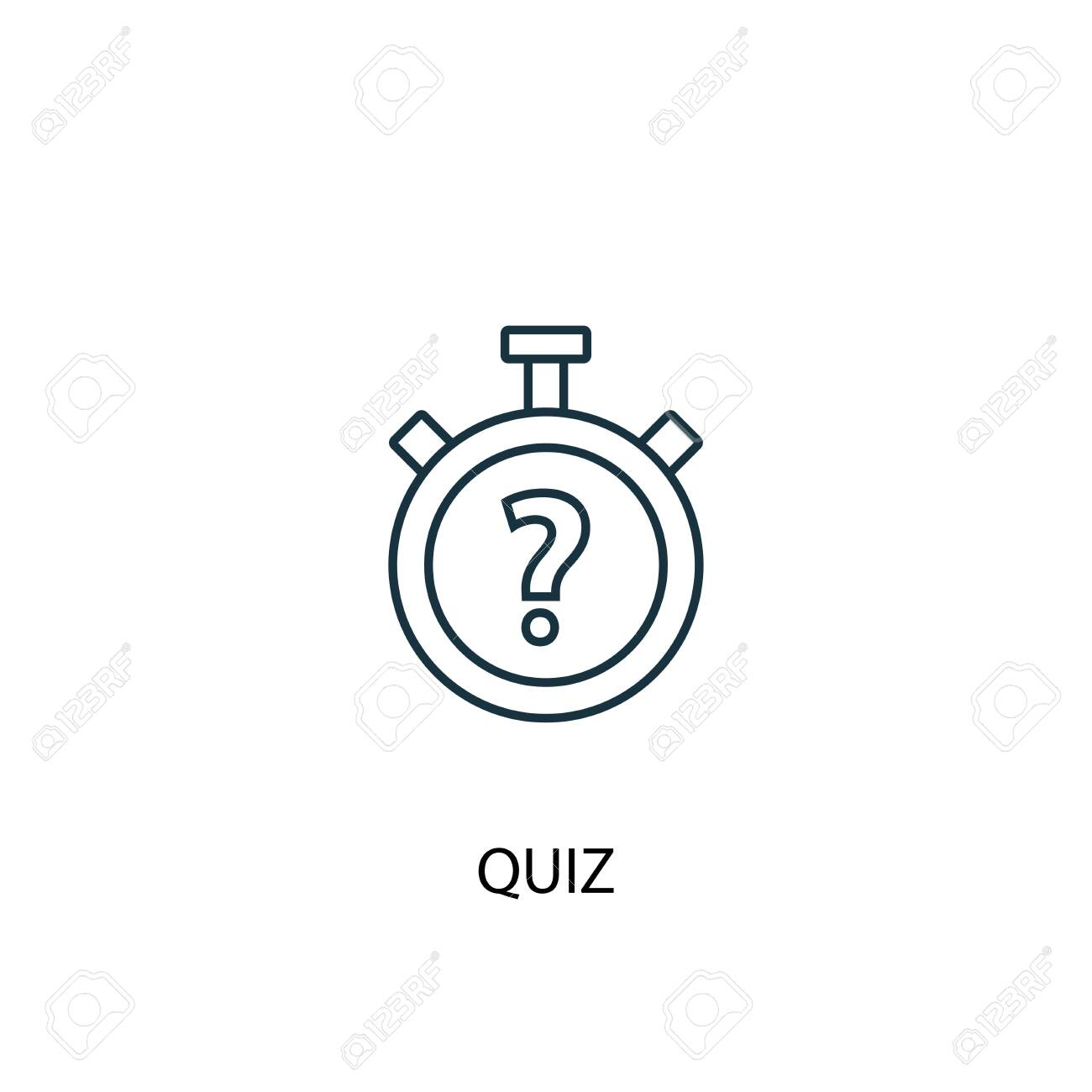 quiz concept line icon. Simple element illustration. quiz concept outline symbol design. Can be used for web and mobile - 130222555