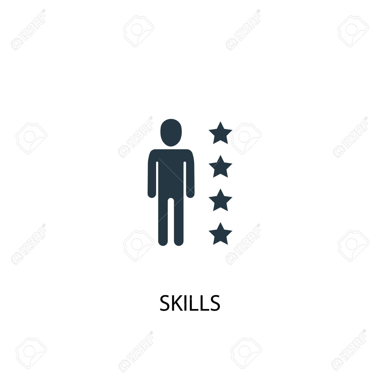 skills icon. Simple element illustration. skills concept symbol design. Can be used for web - 130223423