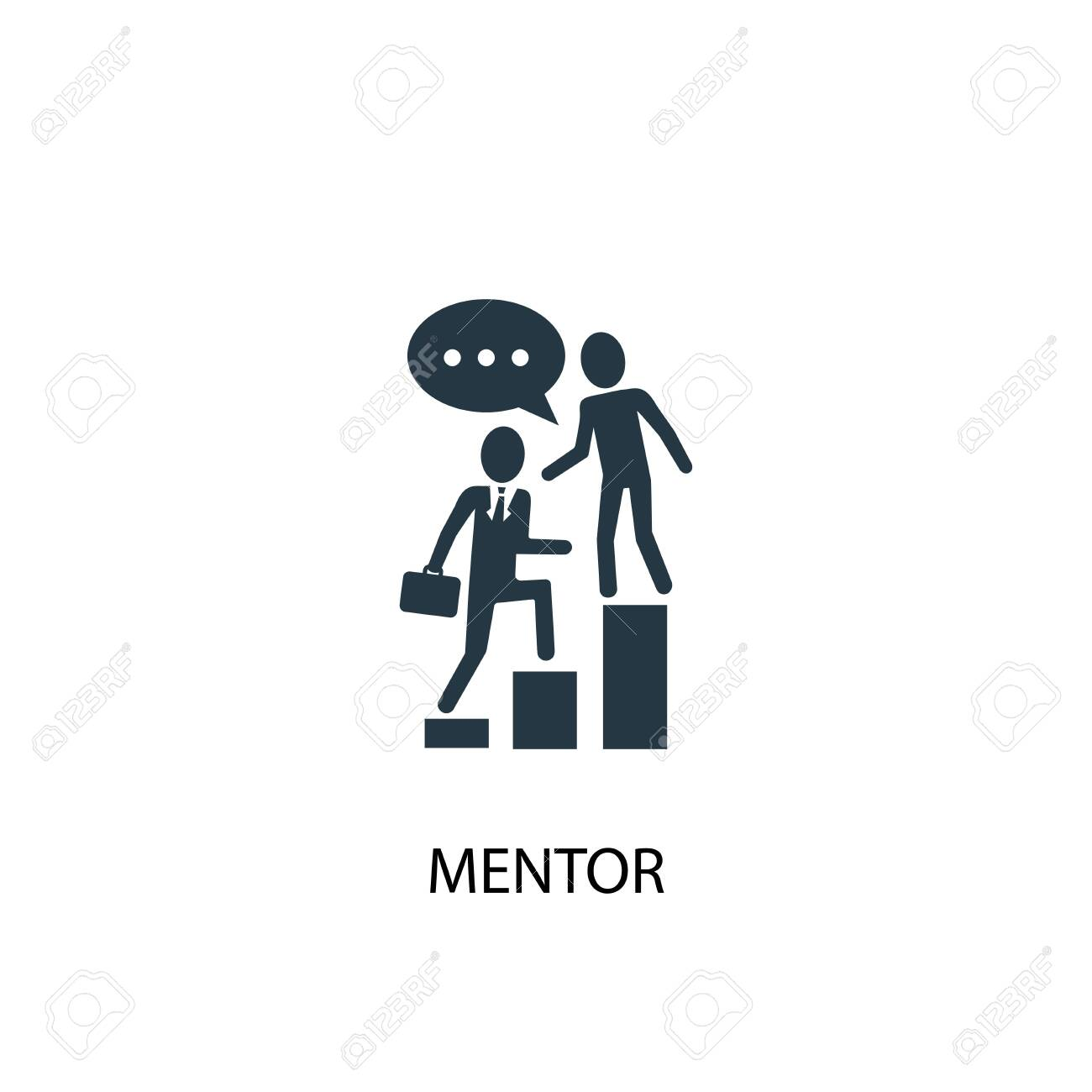 mentor icon. Simple element illustration. mentor concept symbol design. Can be used for web - 130223873