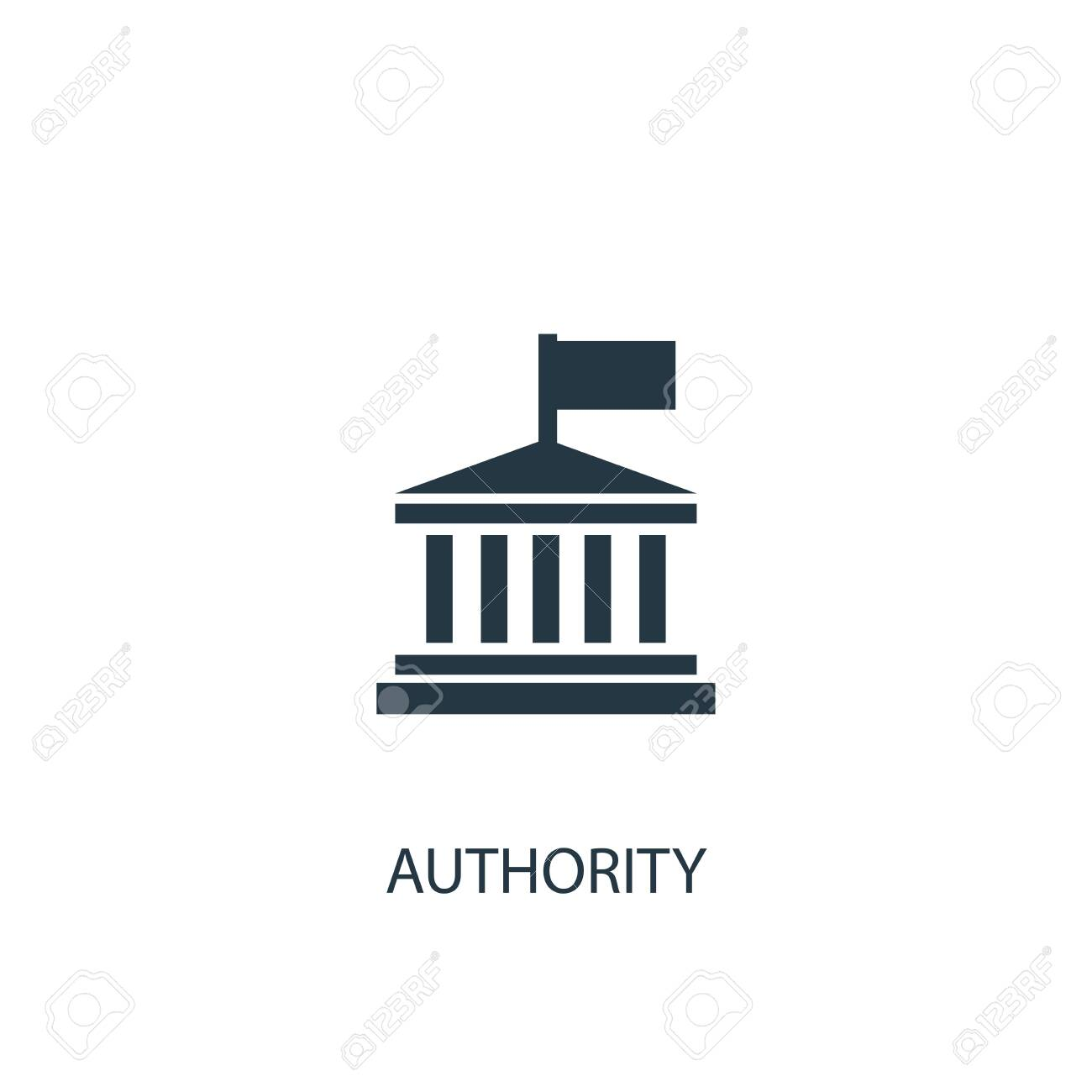 authority icon. Simple element illustration. authority concept symbol design. Can be used for web - 130224015