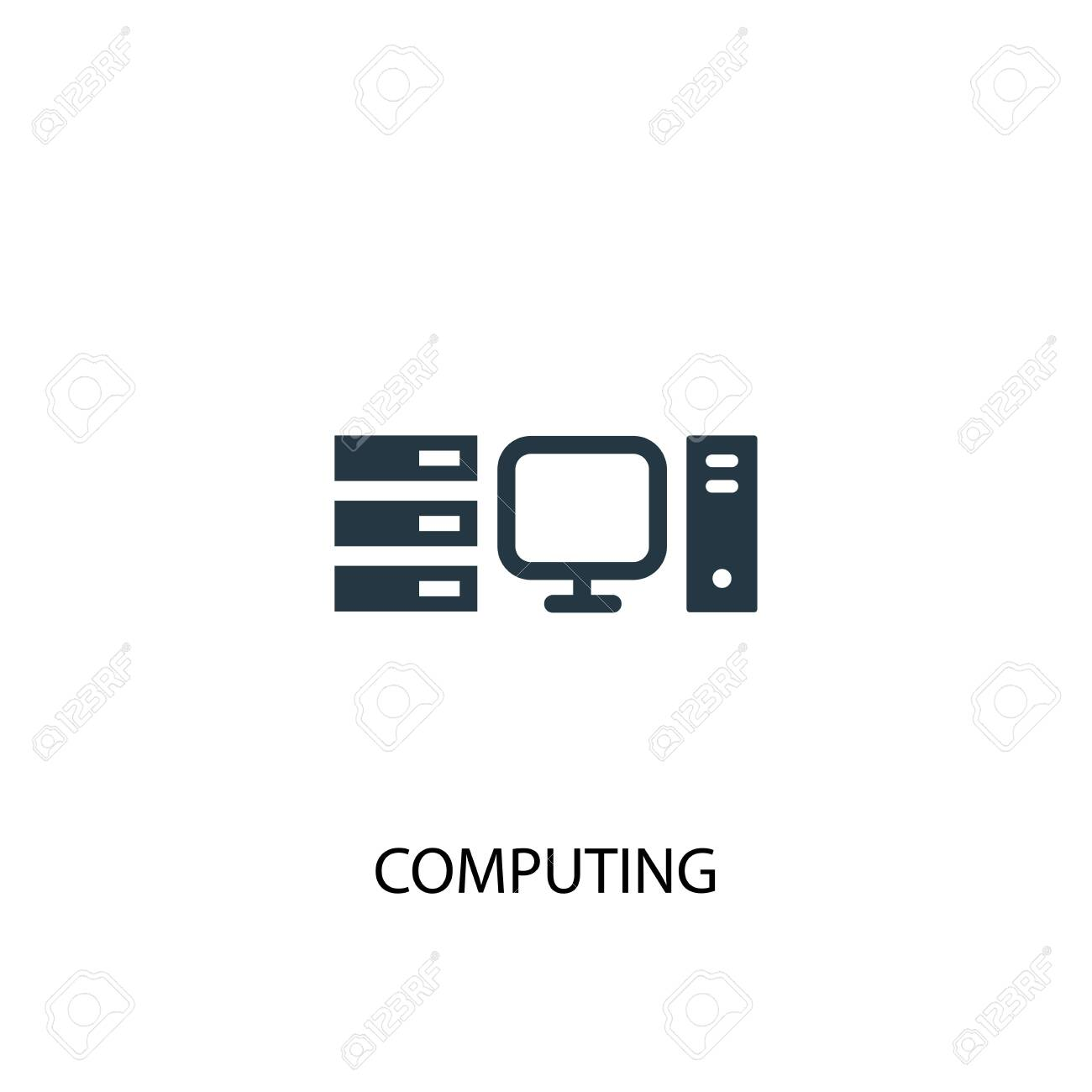 computing icon. Simple element illustration. computing concept symbol design. Can be used for web and mobile. - 130135180