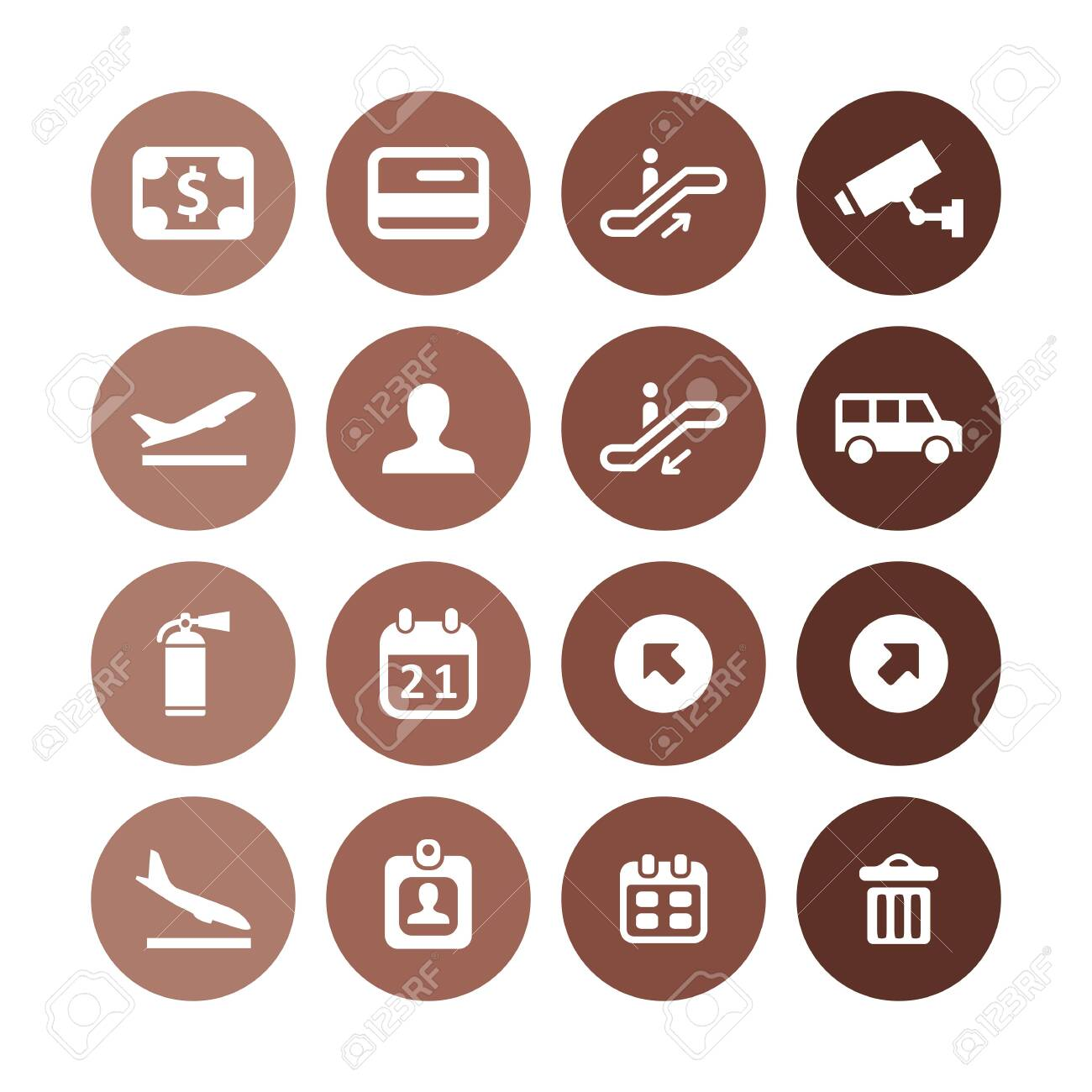 airport icons universal set for web and UI - 130456441