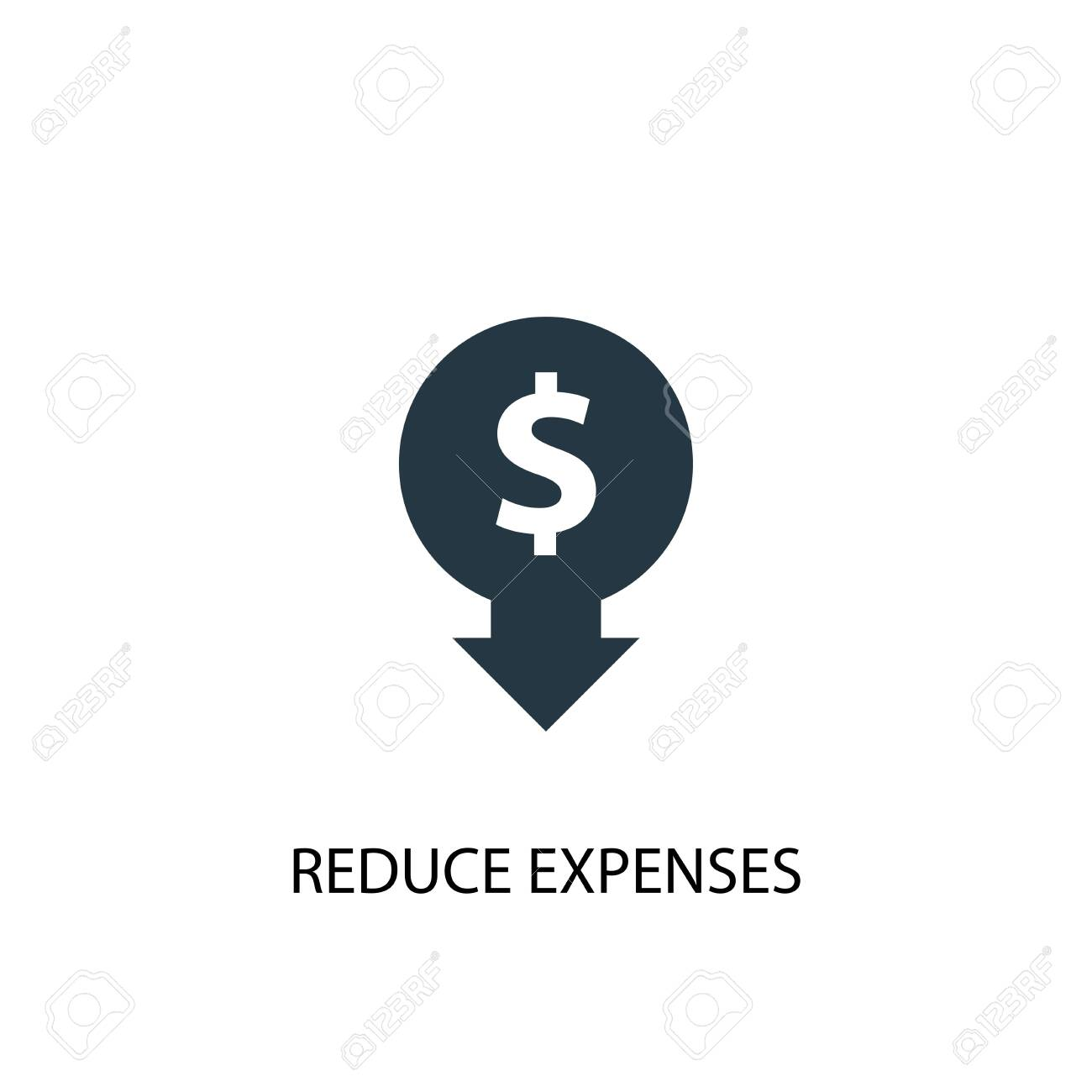 reduce expenses icon. Simple element illustration. reduce expenses concept symbol design. Can be used for web and mobile. - 131973307