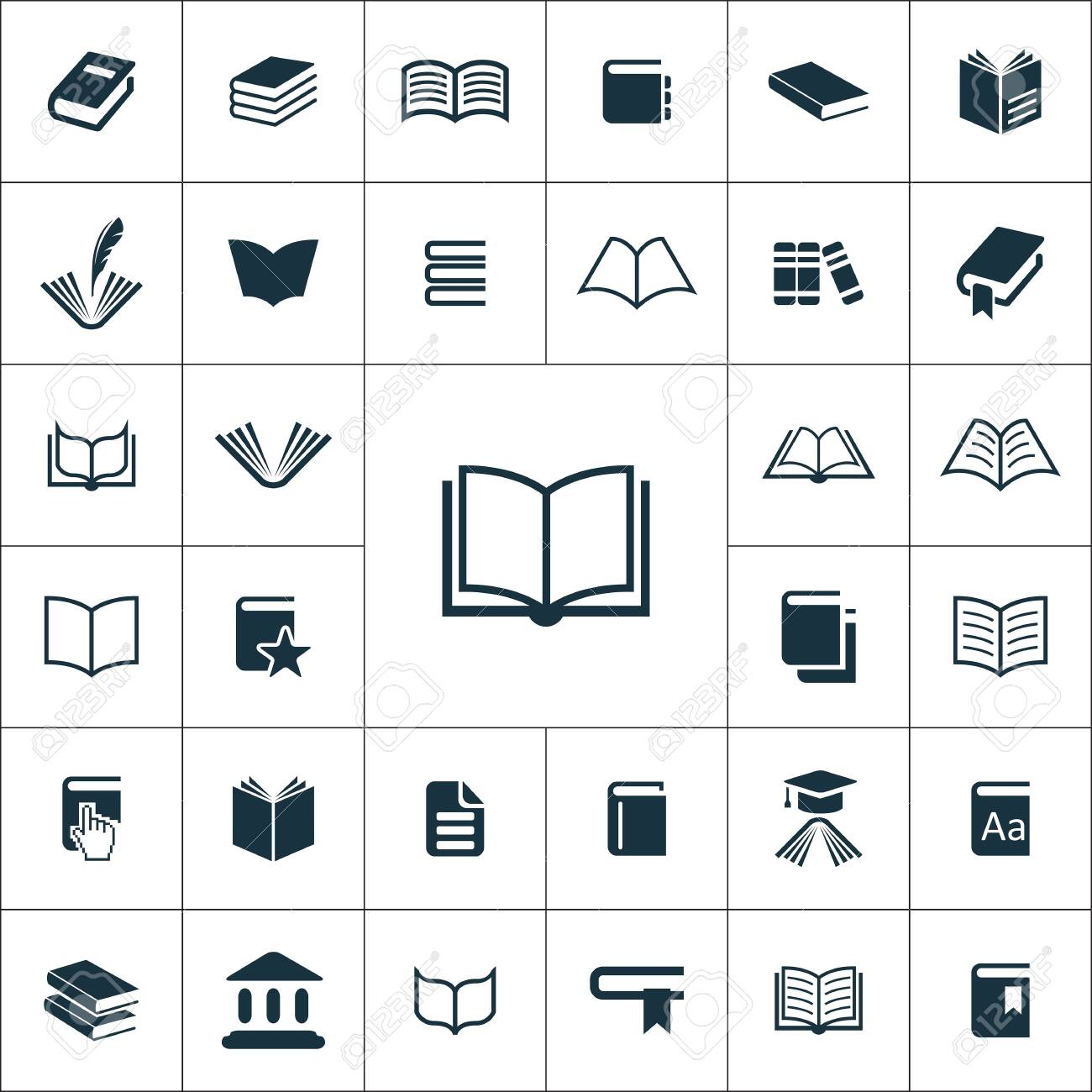 books icons universal set for web and mobile. - 132587334