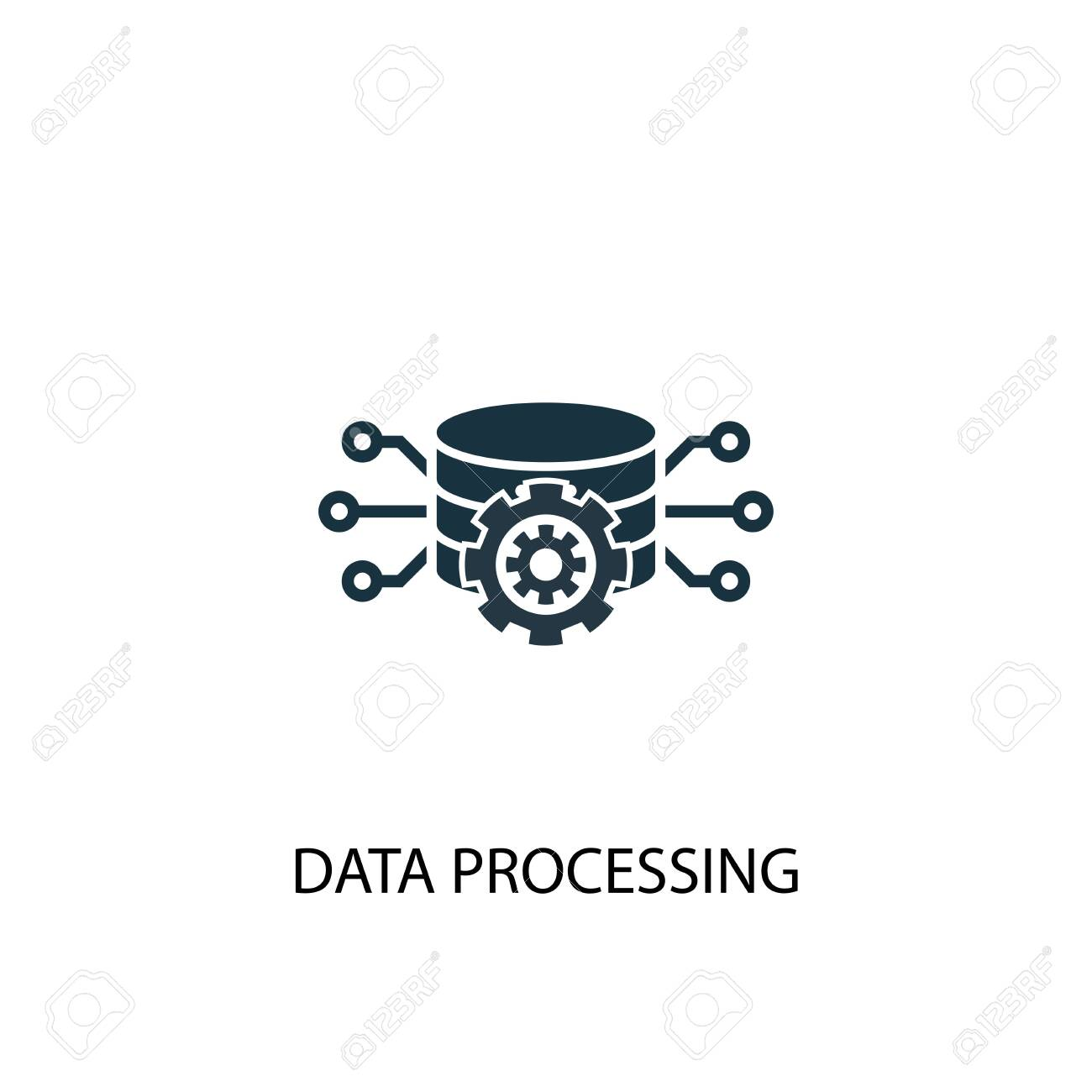 Data processing icon. Simple element illustration. Data processing concept symbol design. Can be used for web - 133748564