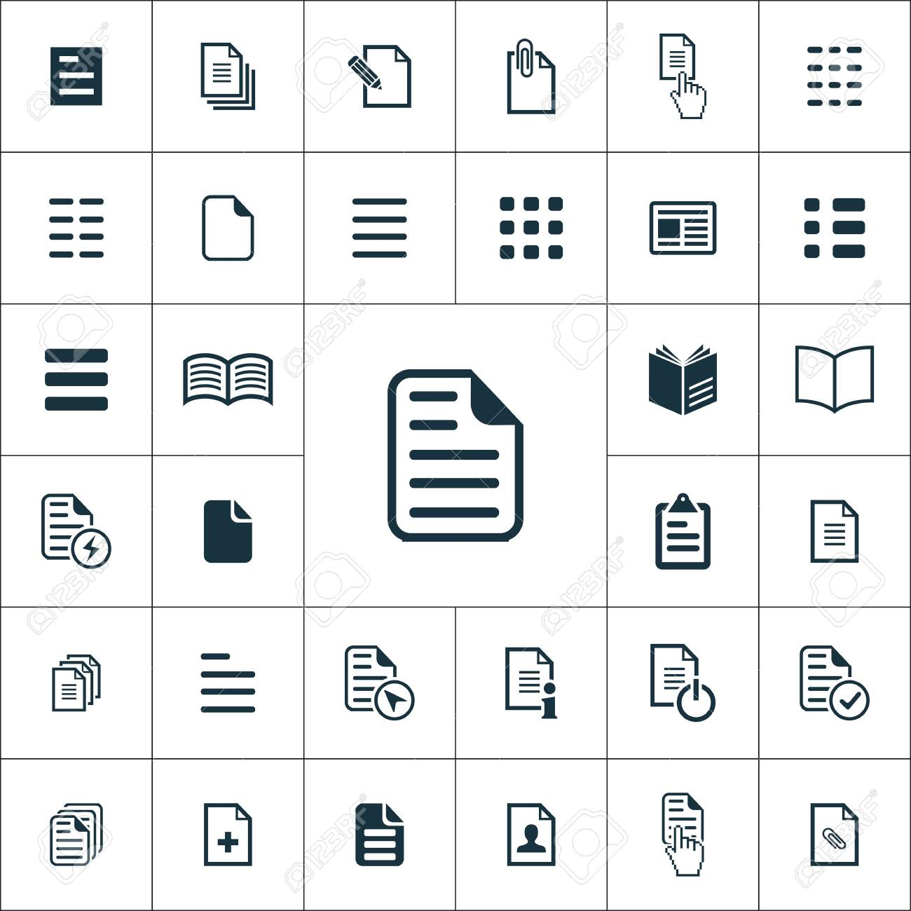 document icons universal set for web and UI - 133748997