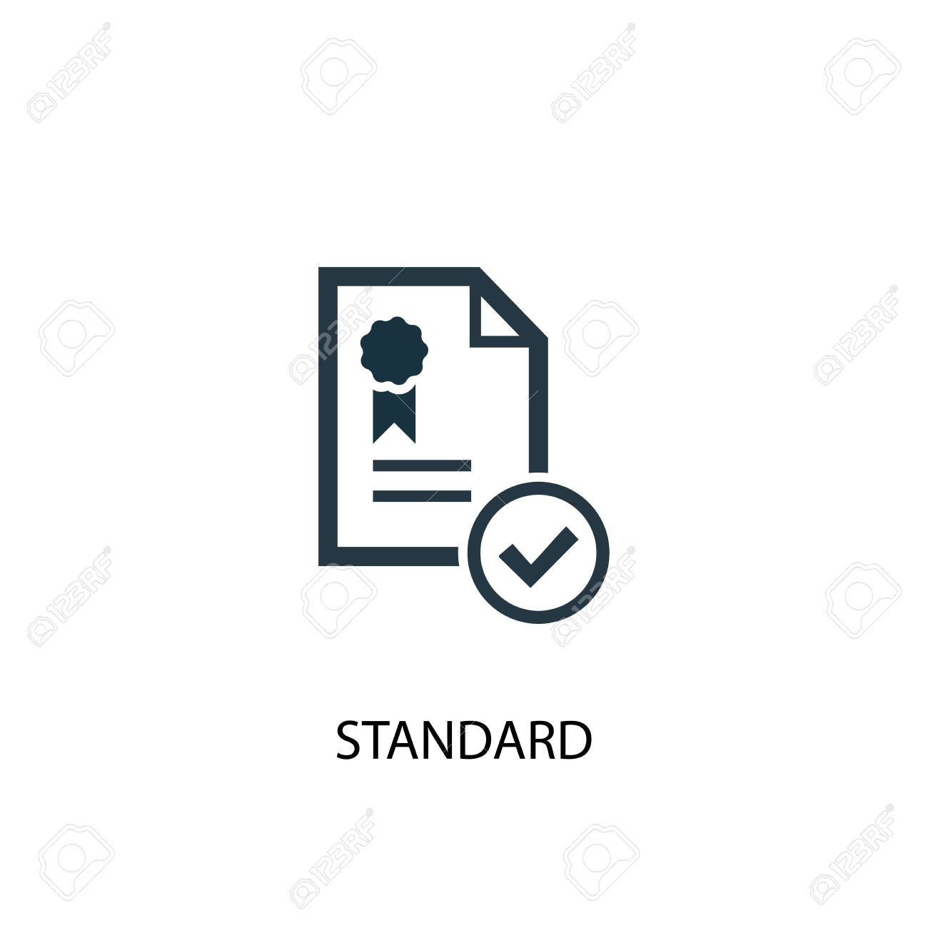 standard icon. Simple element illustration. standard concept symbol design. Can be used for web - 133748800
