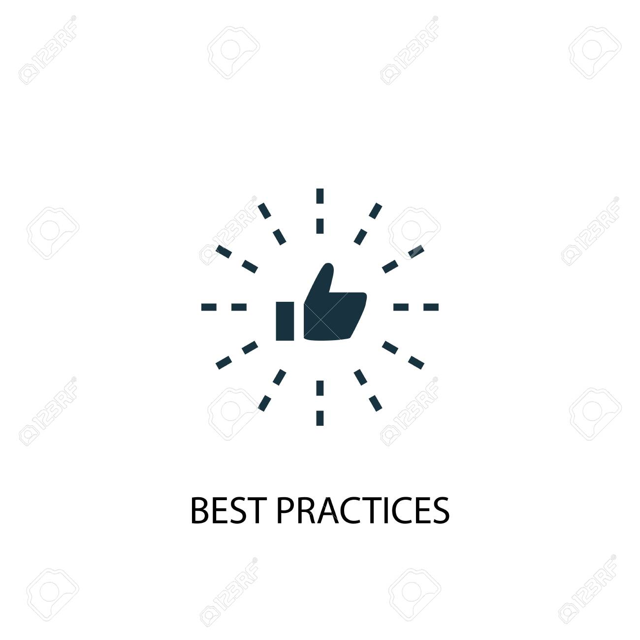 Best Practices icon. Simple element illustration. Best Practices concept symbol design. Can be used for web - 133749111