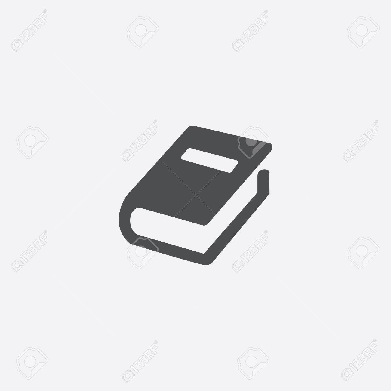 book icon, isolated, white background - 142166868