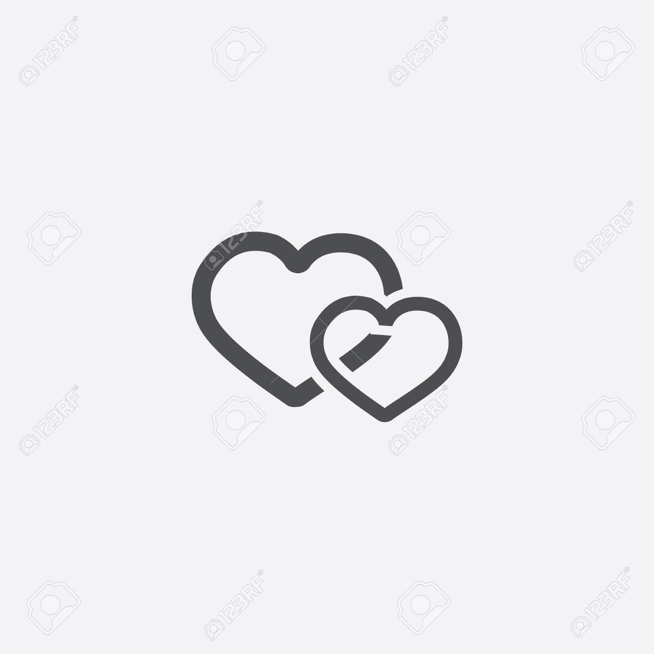 two hearts icon - 143431855
