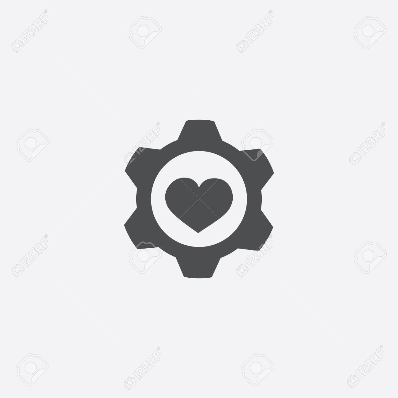 heart setting icon - 143431858