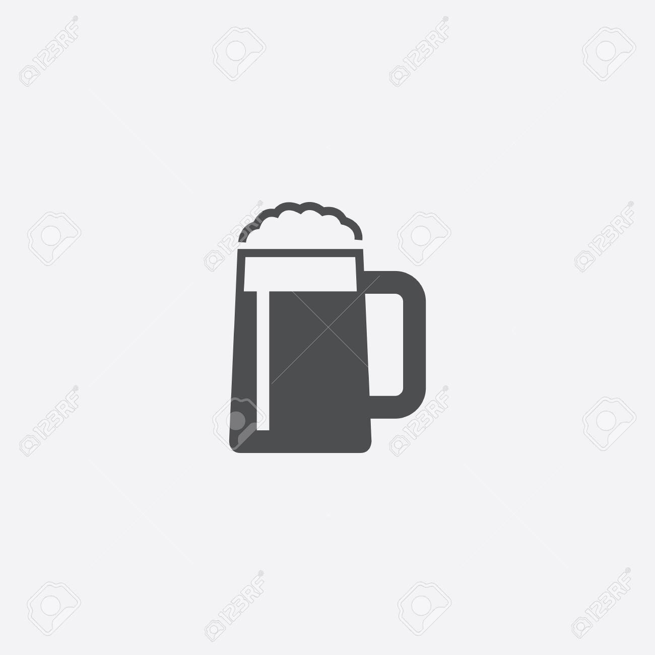 glass of beer icon - 143431876