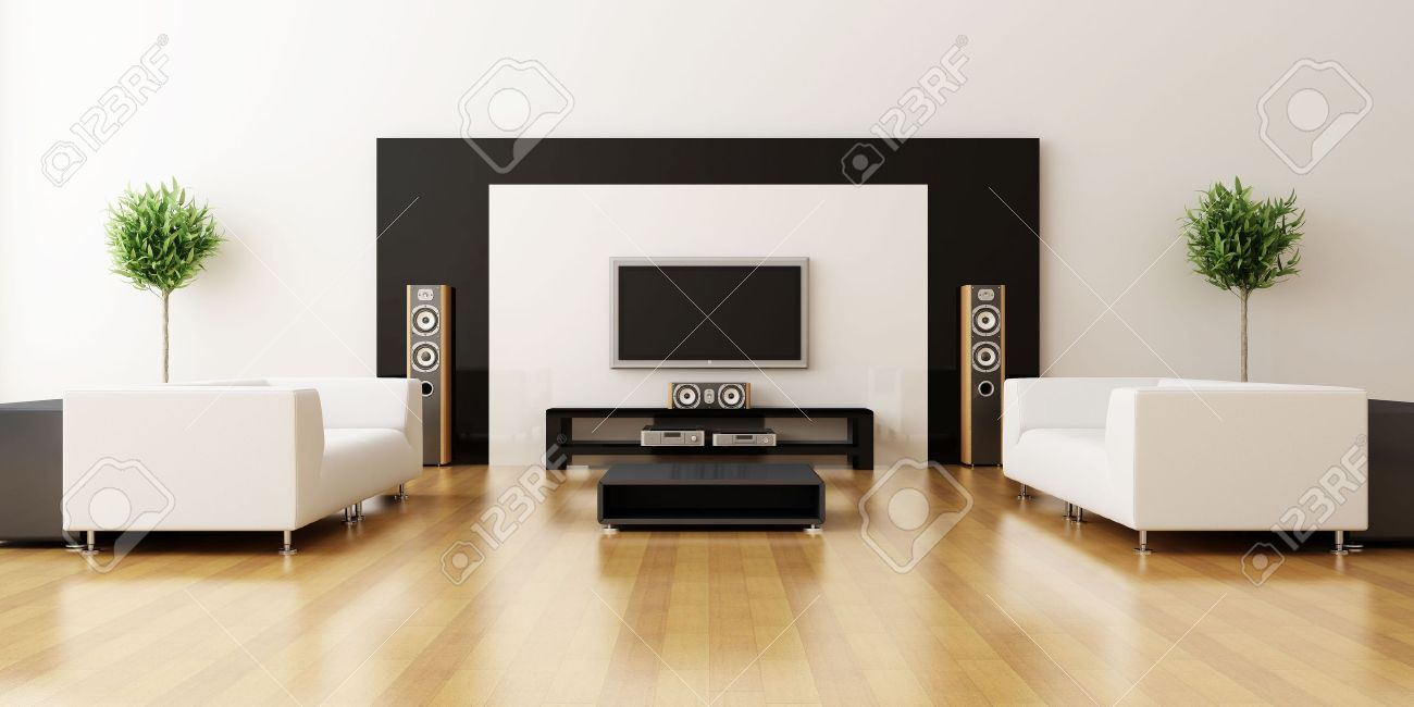 Modern interior of a drawing room Stock Photo - 7756826
