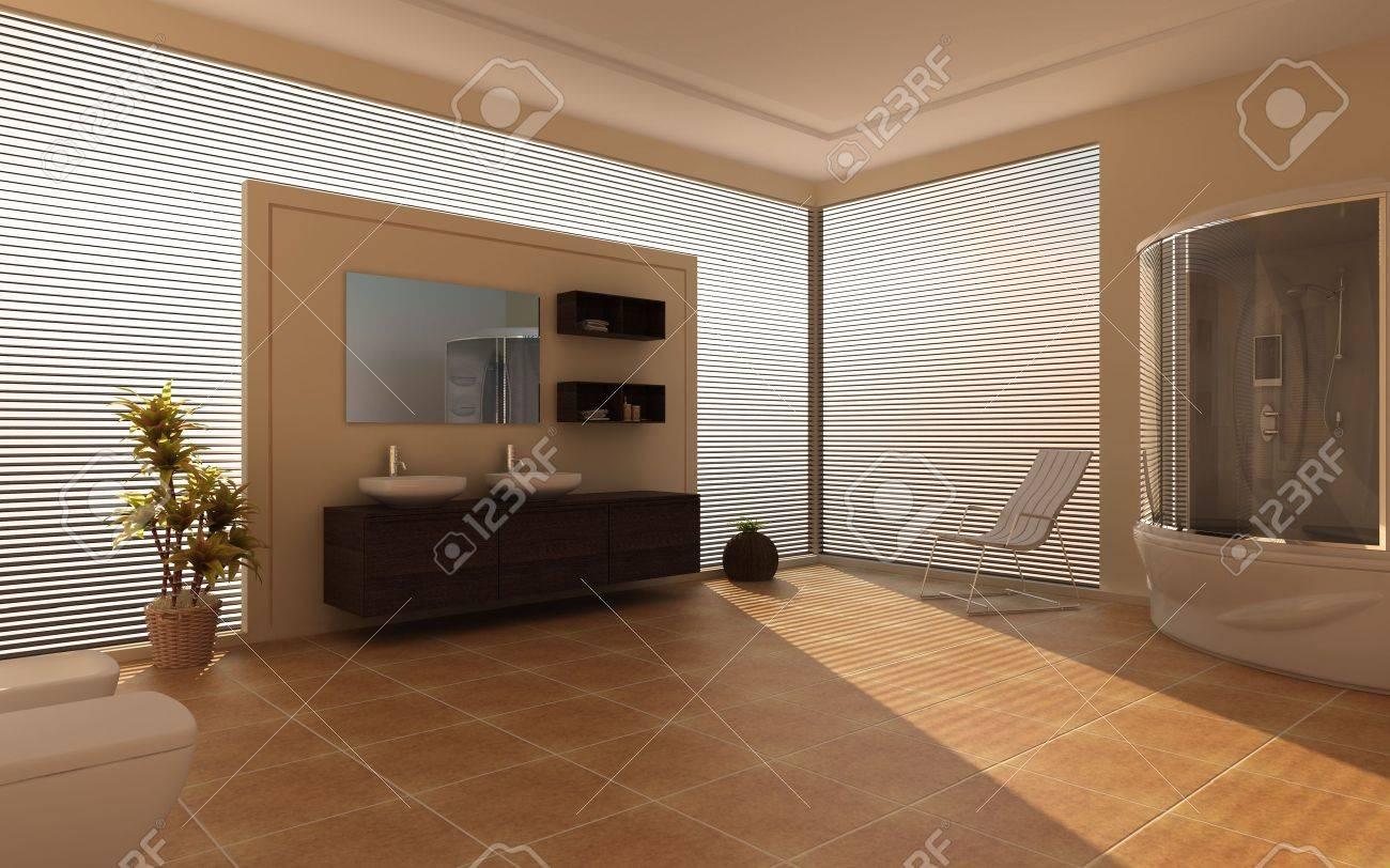 Modern interior of a bathroom Stock Photo - 7756846