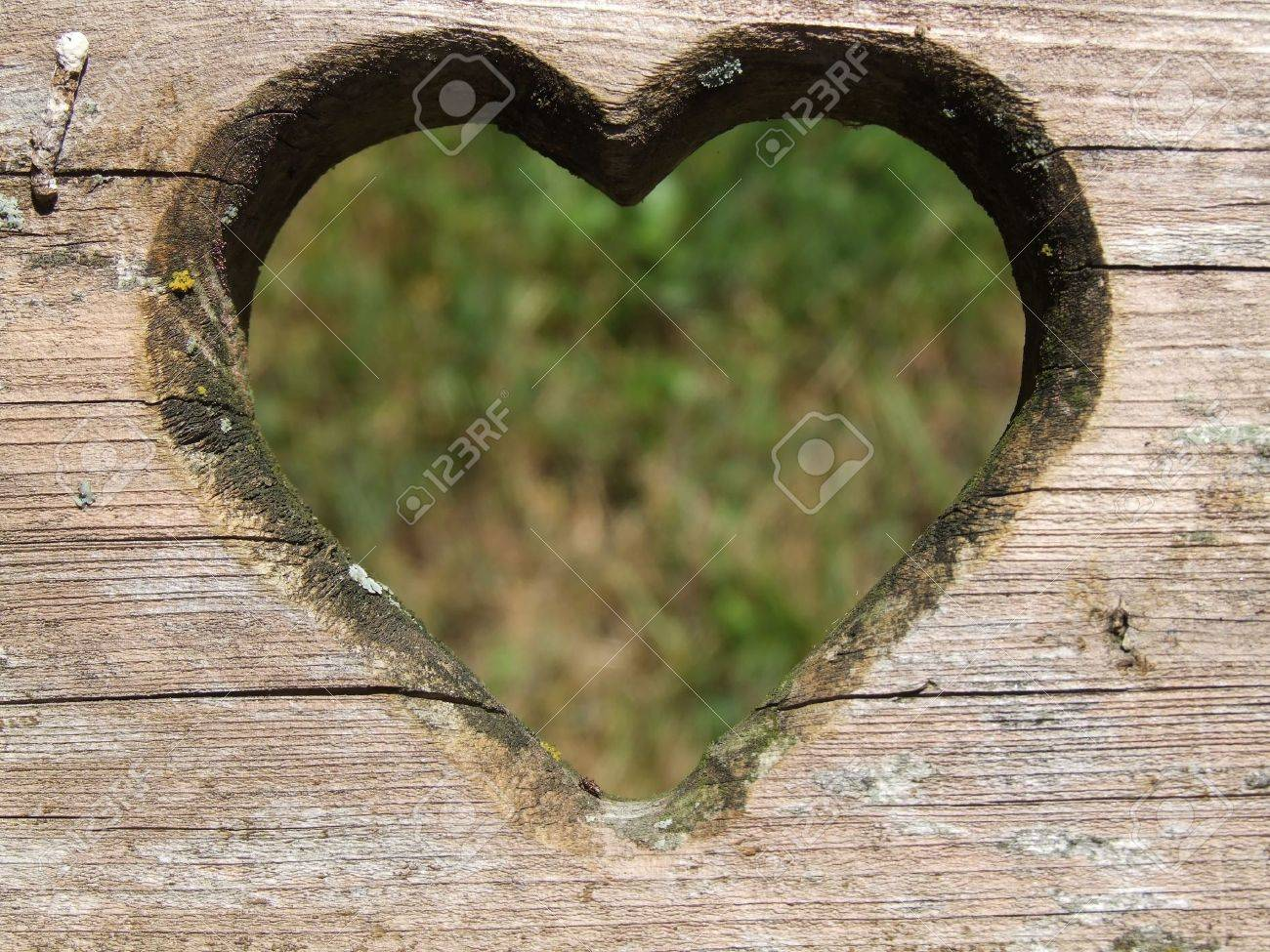 heart carved in wood Stock Photo - 4951931