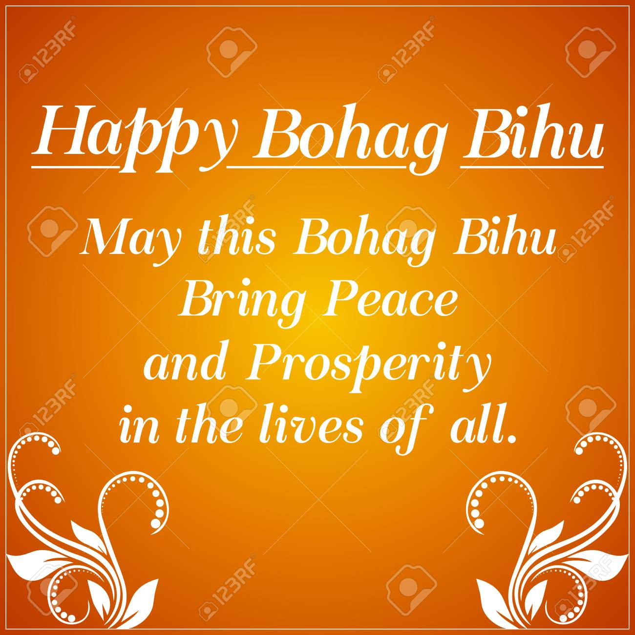 Creative Greetings For Bohag Bihu With Nice And Creative Design