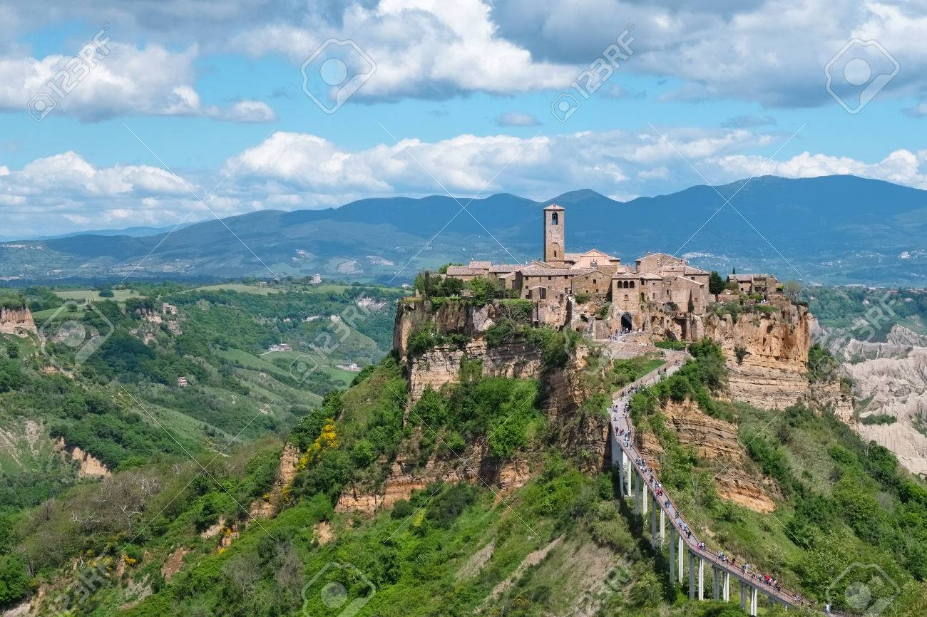 Close Up Of Civita Di Bagnoreggio In Italy Stock Photo, Picture And ...