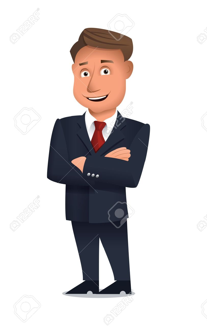 Business team cartoon characters cartoon vector cartoondealer com - Business Man Cartoon Businessman Standing Alone With Arms Crossed