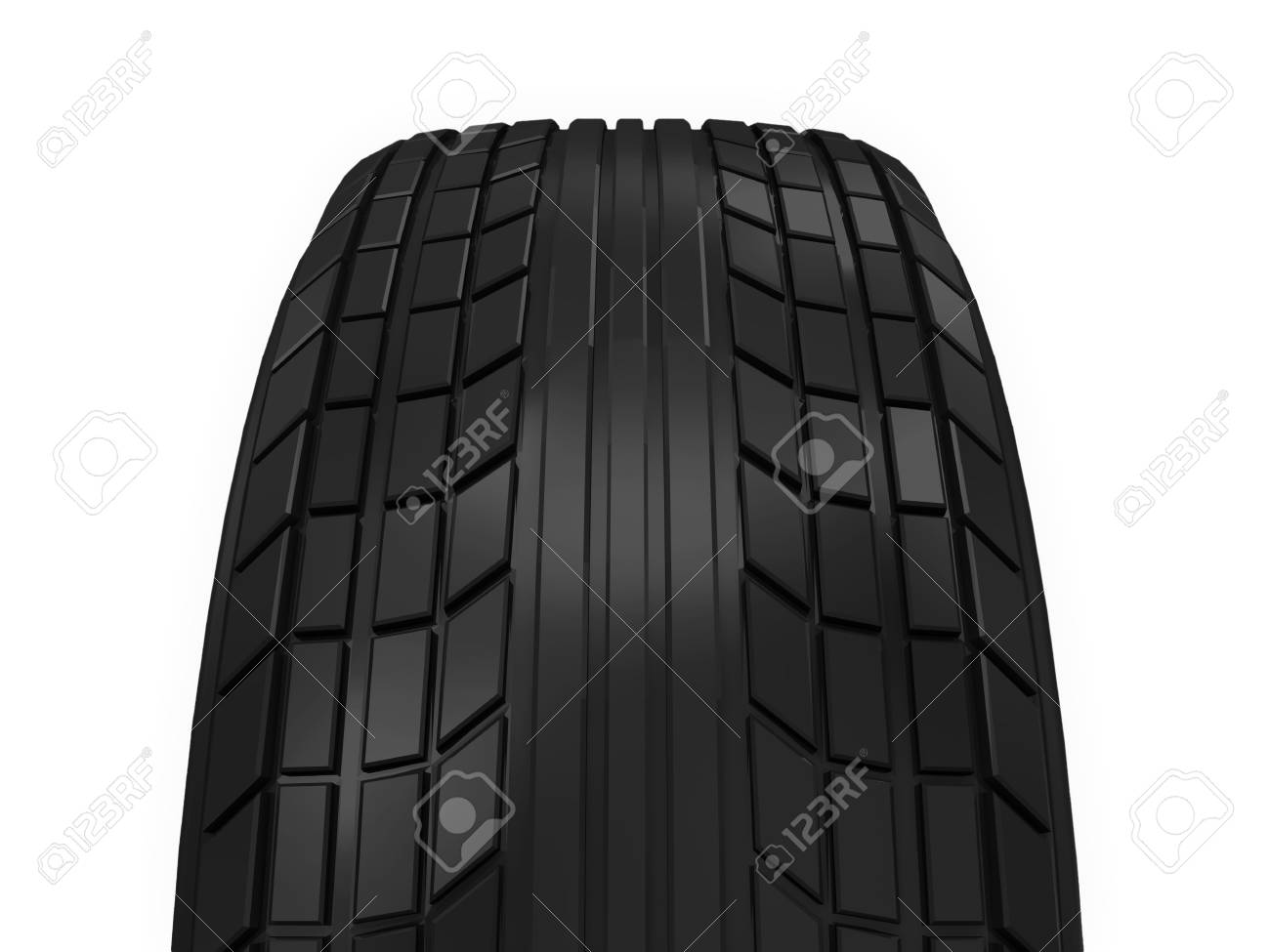 Car Tire isolated on white background Stock Photo - 20055096