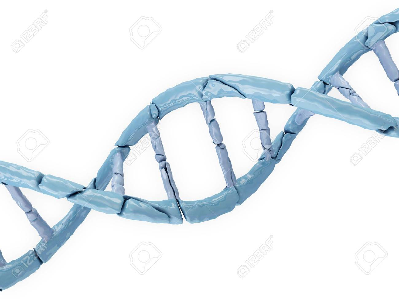 Broken DNA isolated on white background Stock Photo - 20084492