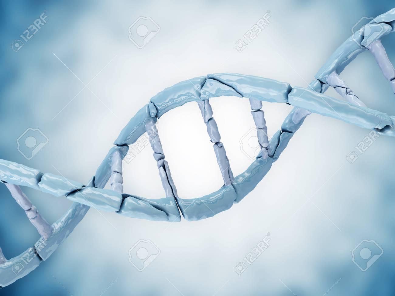 Digital illustration of a Broken DNA on blue background Stock Photo - 20084510