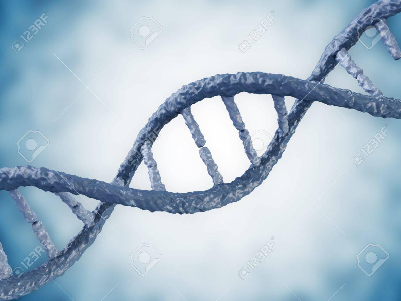 Digital illustration of a DNA on blue background Stock Photo - 20082132