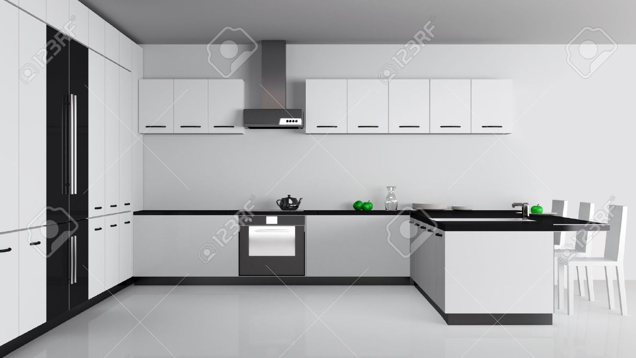 Modern Kitchen Interior Stock Photo Picture And Royalty Free Image