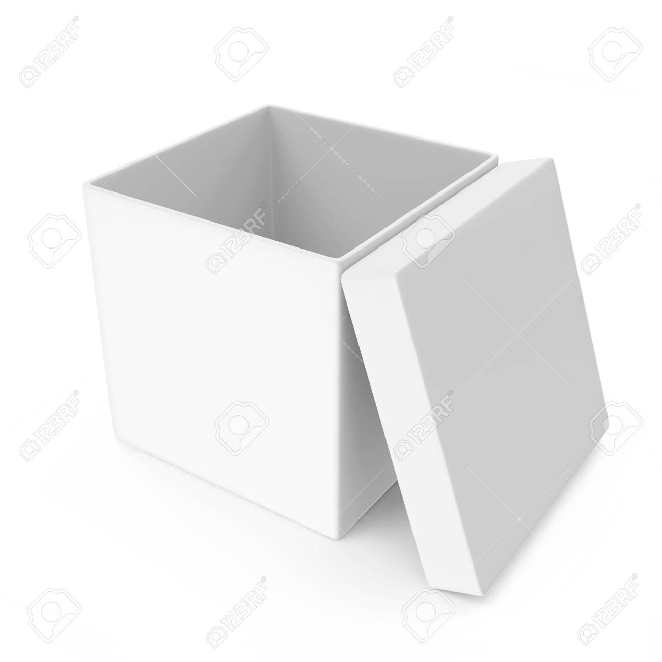 Opened White Blank Box isolated on white background Stock Photo - 22914611